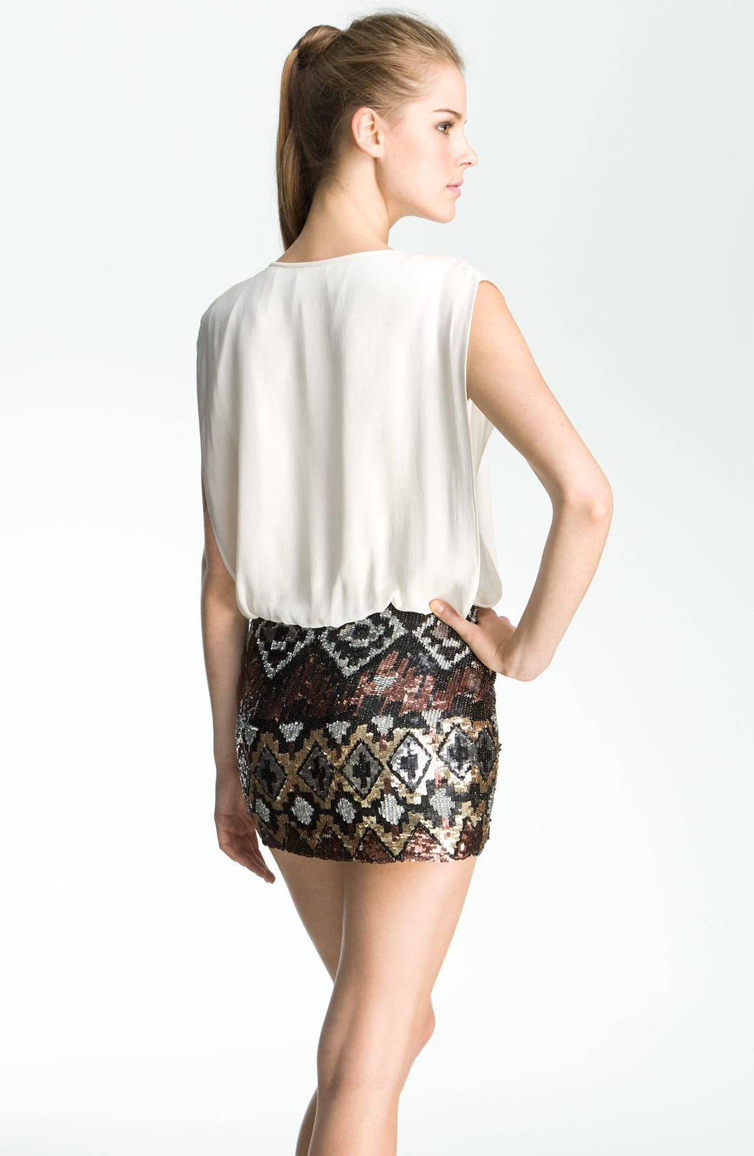Alternate Image 2  - Parker Sequin Silk Dress