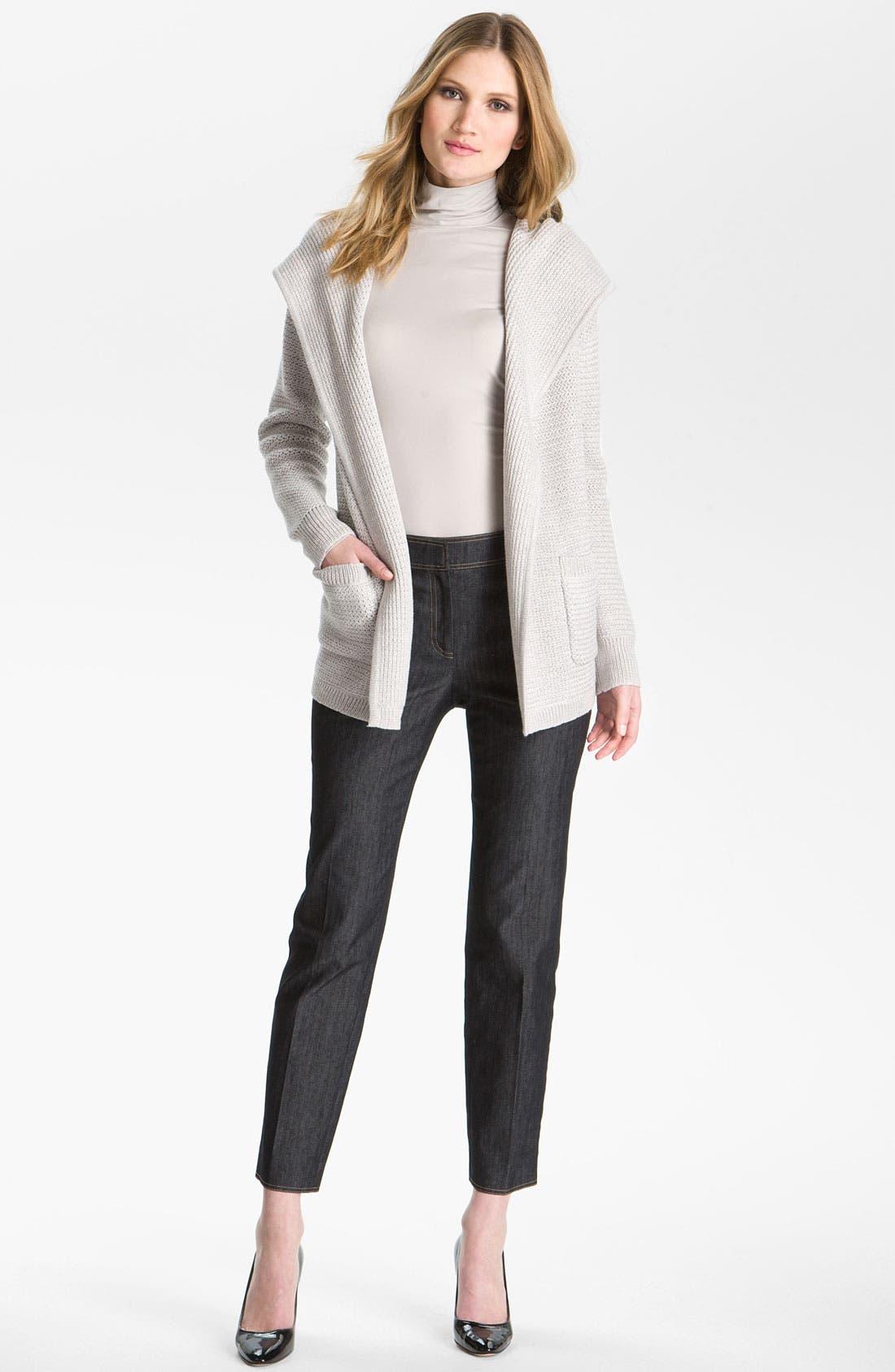 Main Image - St. John Yellow Label Hooded Sweater Jacket