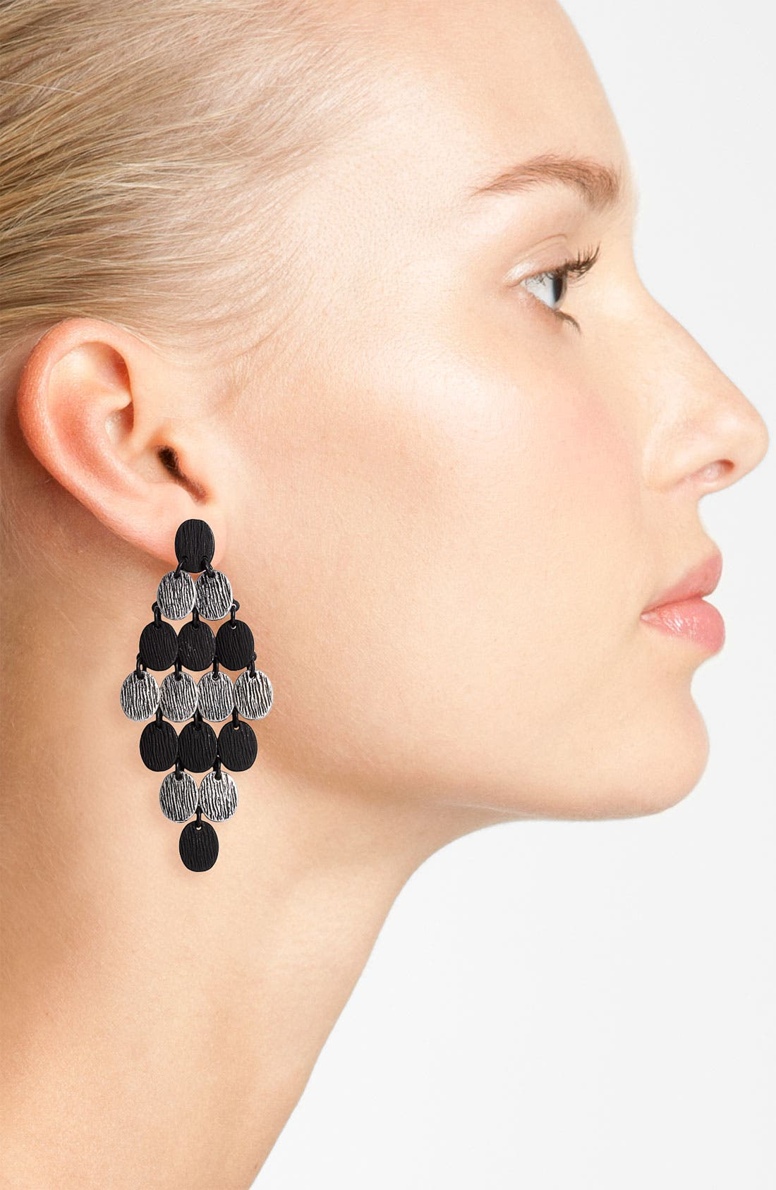 Alternate Image 2  - Tasha Disc Chandelier Earrings
