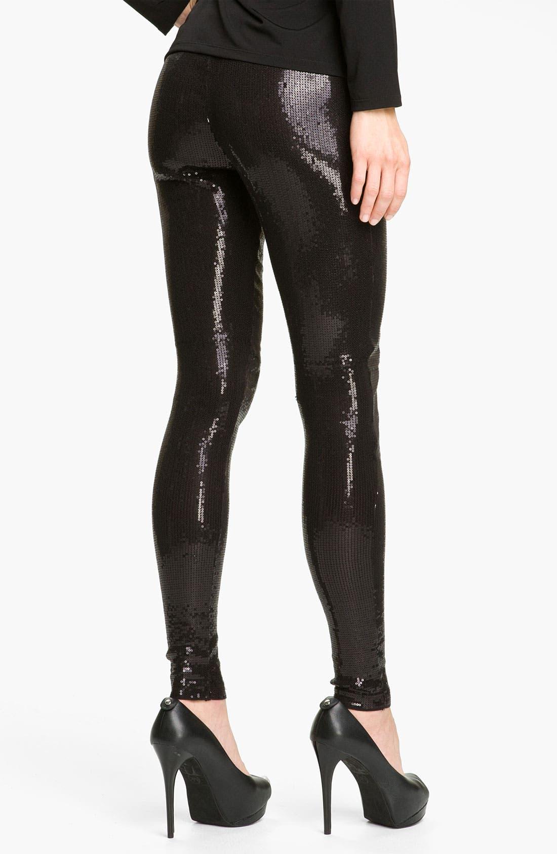 Alternate Image 2  - MICHAEL Michael Kors Sequin Leggings