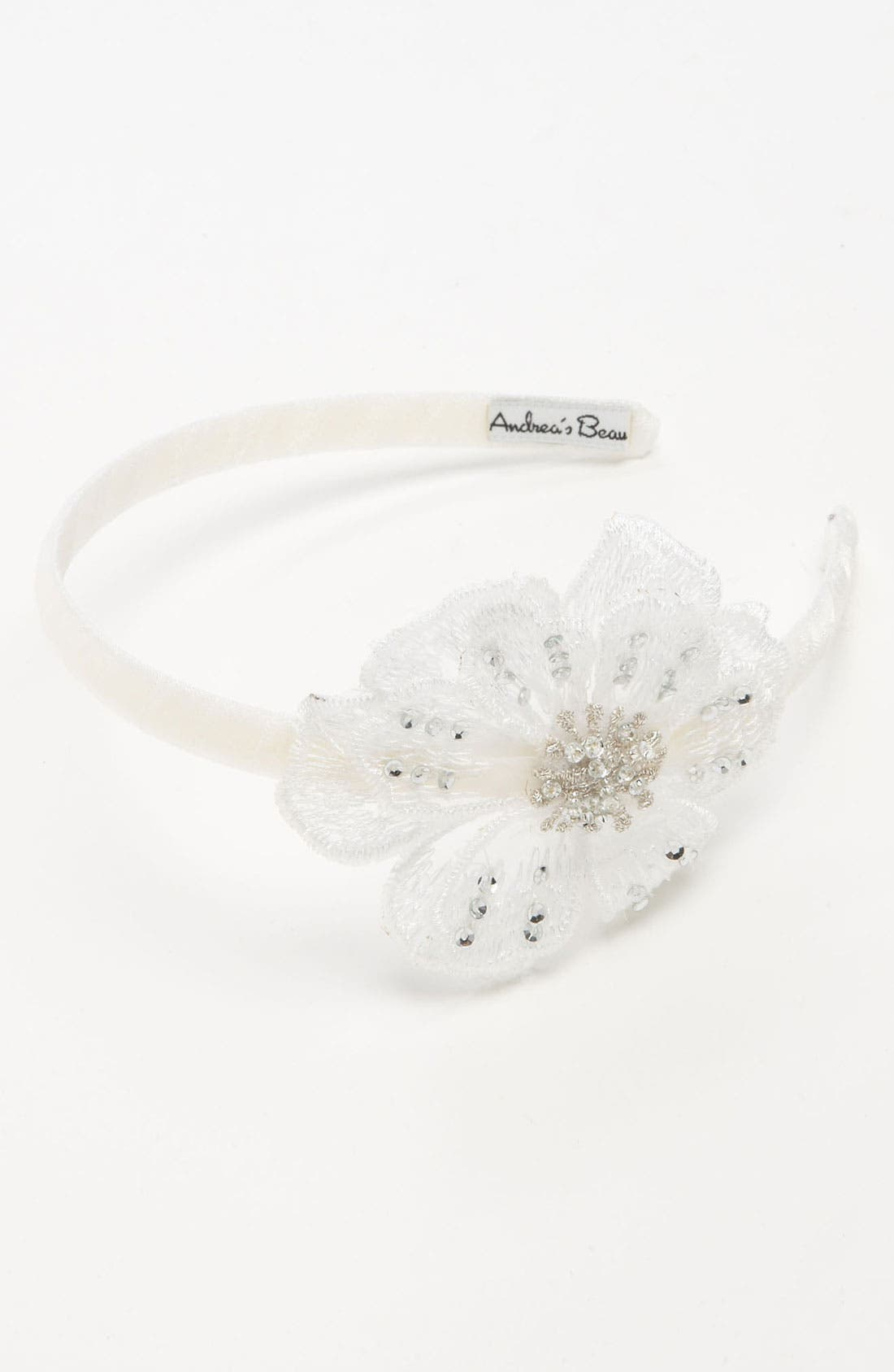Alternate Image 1 Selected - Andrea's Beau Flower Headband (Girls)