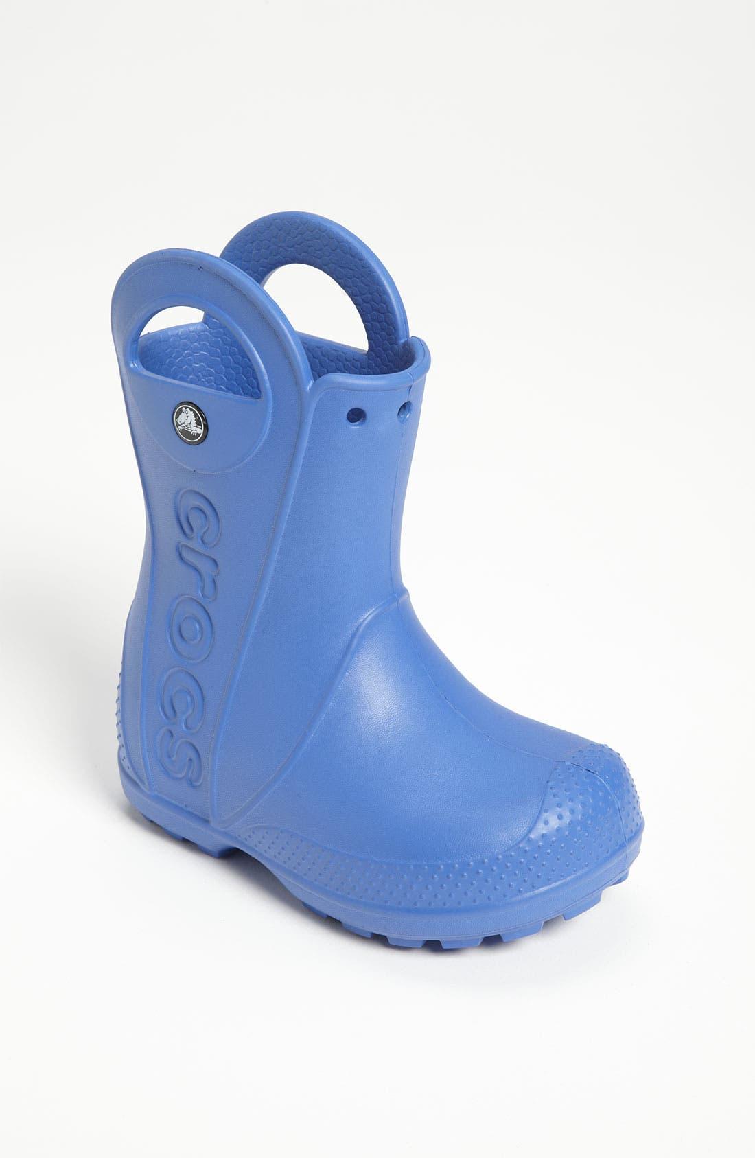 Main Image - CROCS™ 'Handle It' Rain Boot (Walker, Toddler & Little Kid)