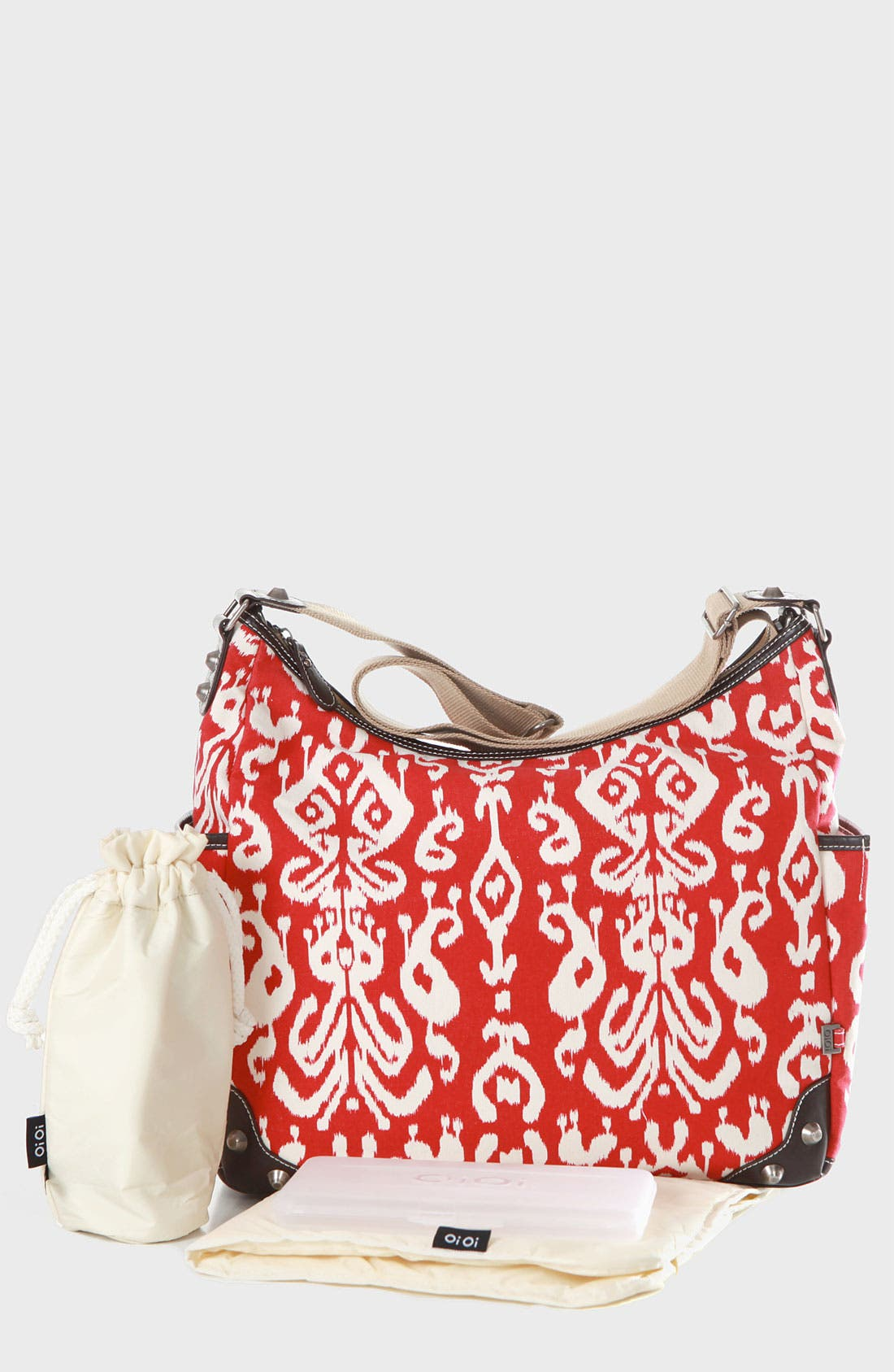 Alternate Image 1 Selected - OiOi Ikat Print Diaper Bag