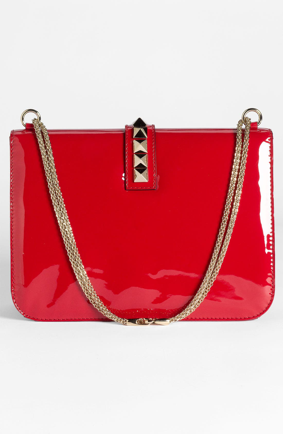 Alternate Image 4  - Valentino 'Grande Lock' Patent Leather Shoulder Bag