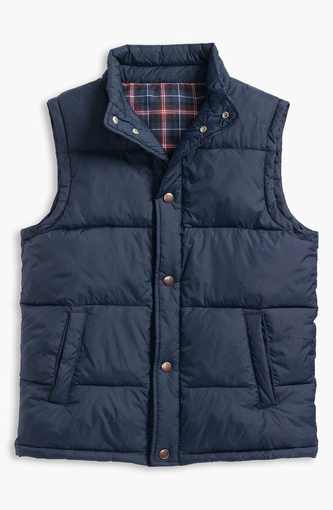 Alternate Image 1 Selected - Tucker + Tate Flannel Lined Field Vest (Big Boys)