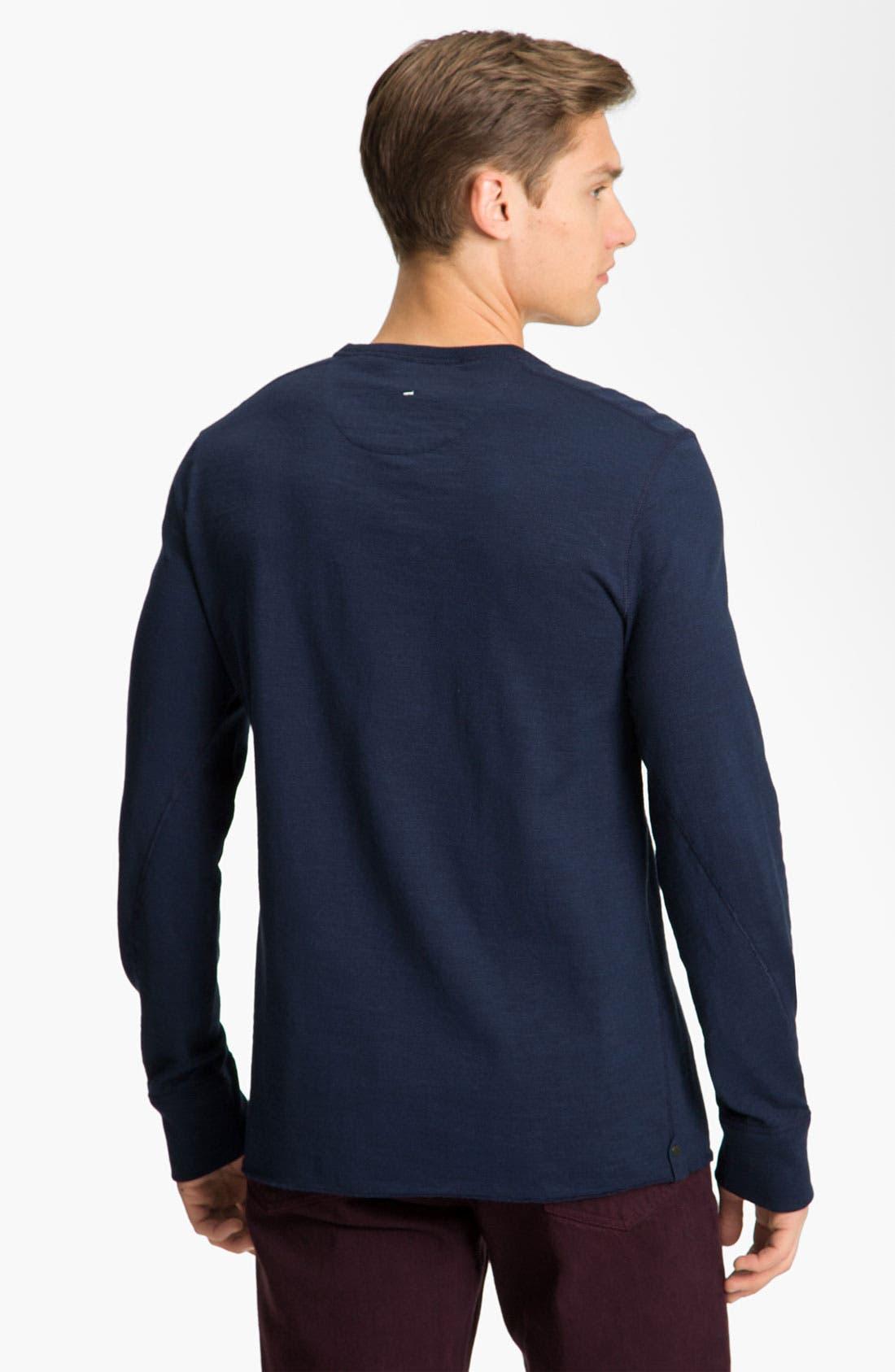Alternate Image 2  - rag & bone Long Sleeve Crewneck T-Shirt
