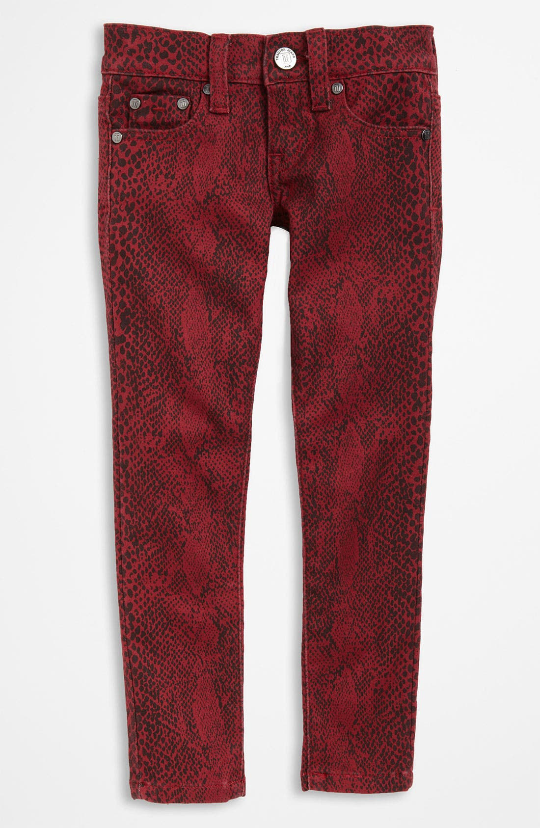 Alternate Image 2  - Tractr Animal Print Jeans (Little Girls)