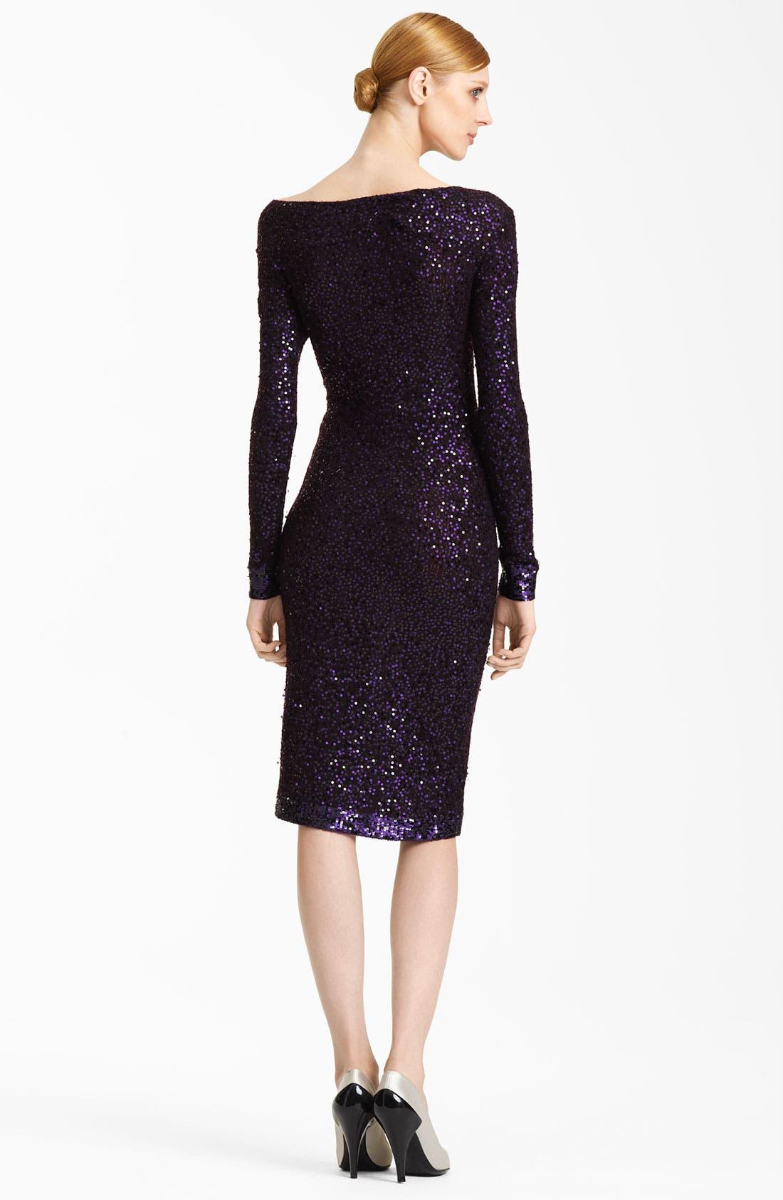 Alternate Image 2  - Donna Karan Collection Sequin Dress