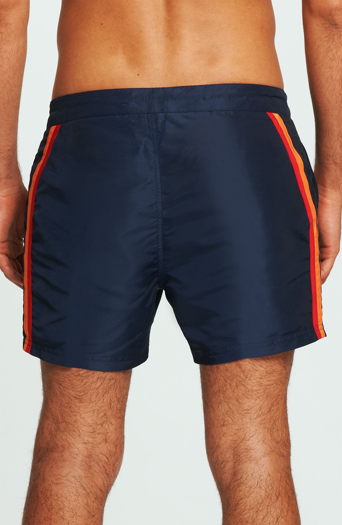 Alternate Image 2  - BOSS HUGO BOSS 'Rainbowfish' Stripe Swim Shorts
