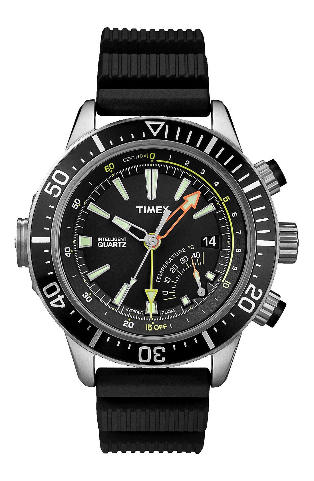 Main Image - Timex® 'Intelligent Quartz' Depth Gauge Resin Strap Watch