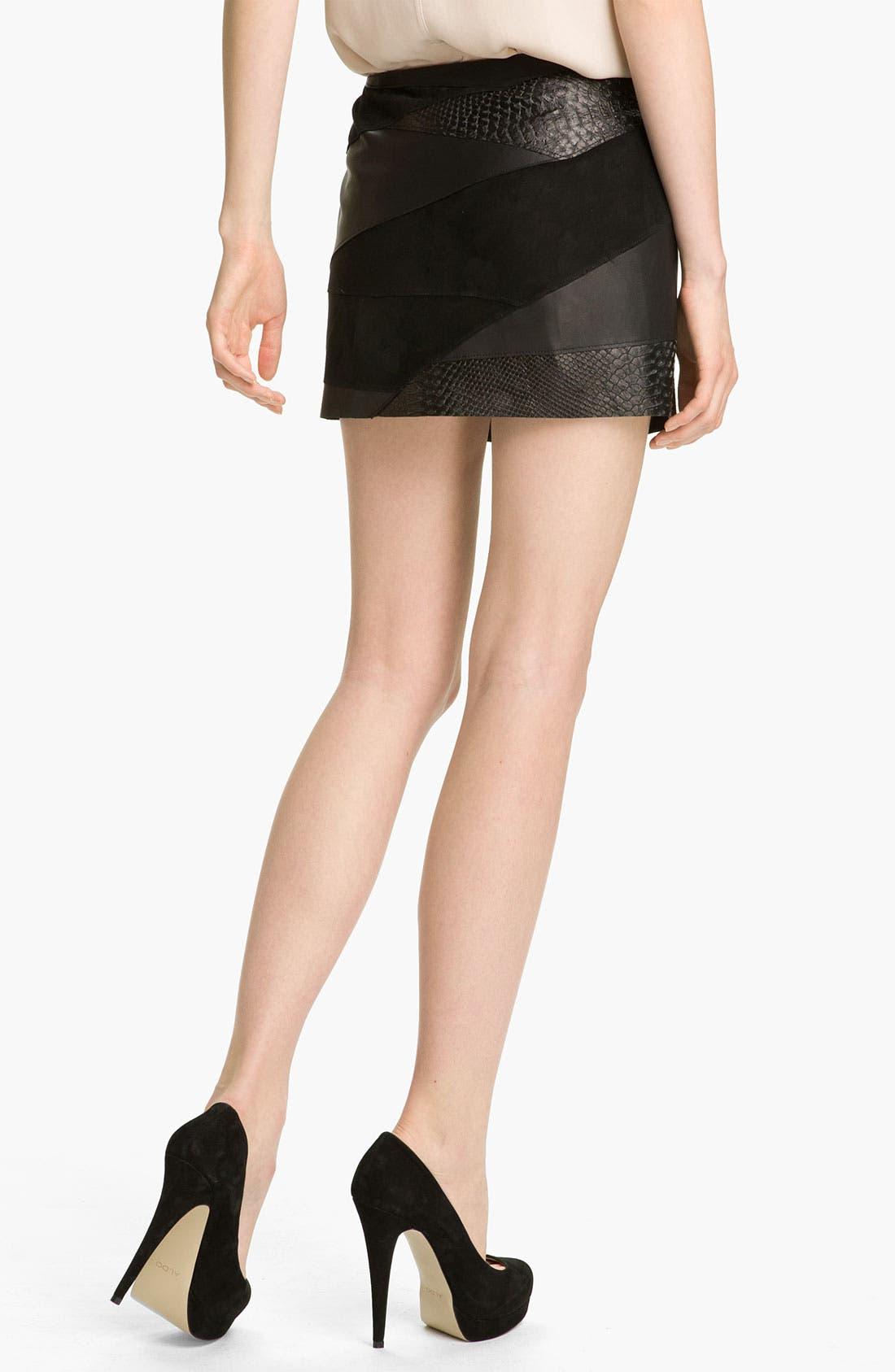 Alternate Image 2  - Haute Hippie Leather Miniskirt