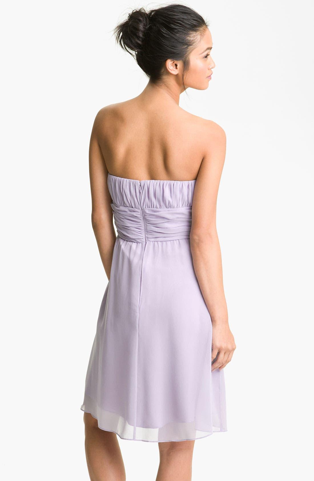 Alternate Image 2  - Donna Morgan Strapless Chiffon Dress