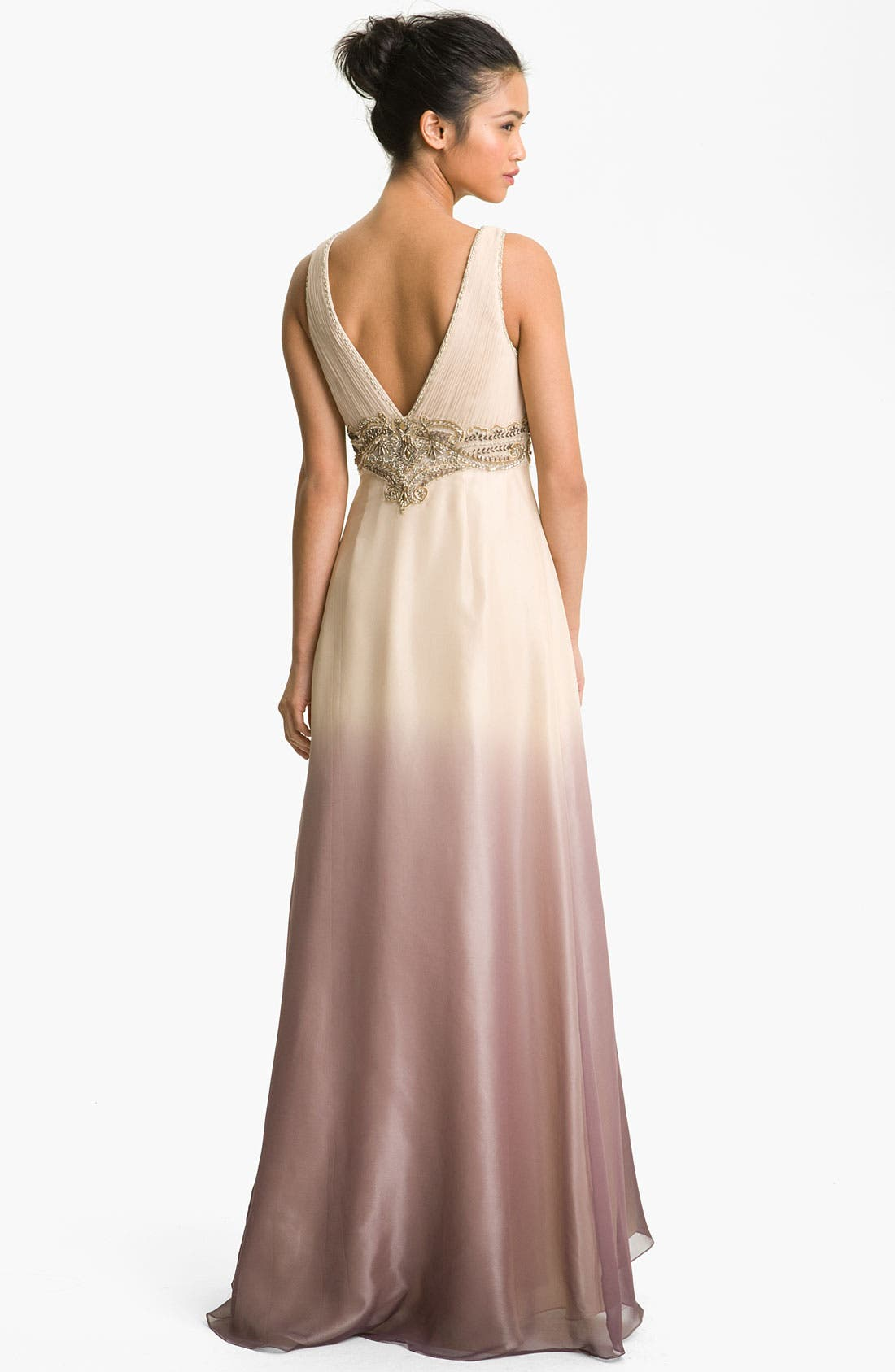 Alternate Image 2  - Sue Wong Embellished Ombré Overlay Silk Gown