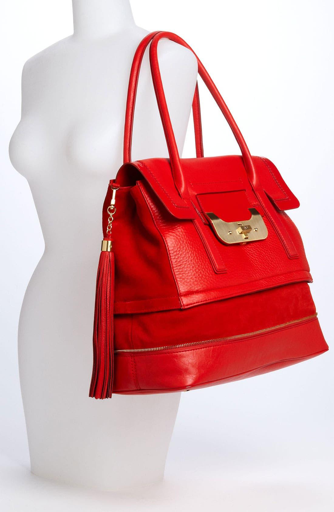 Alternate Image 2  - Diane von Furstenberg 'Harper Laurel' Leather Shoulder Bag