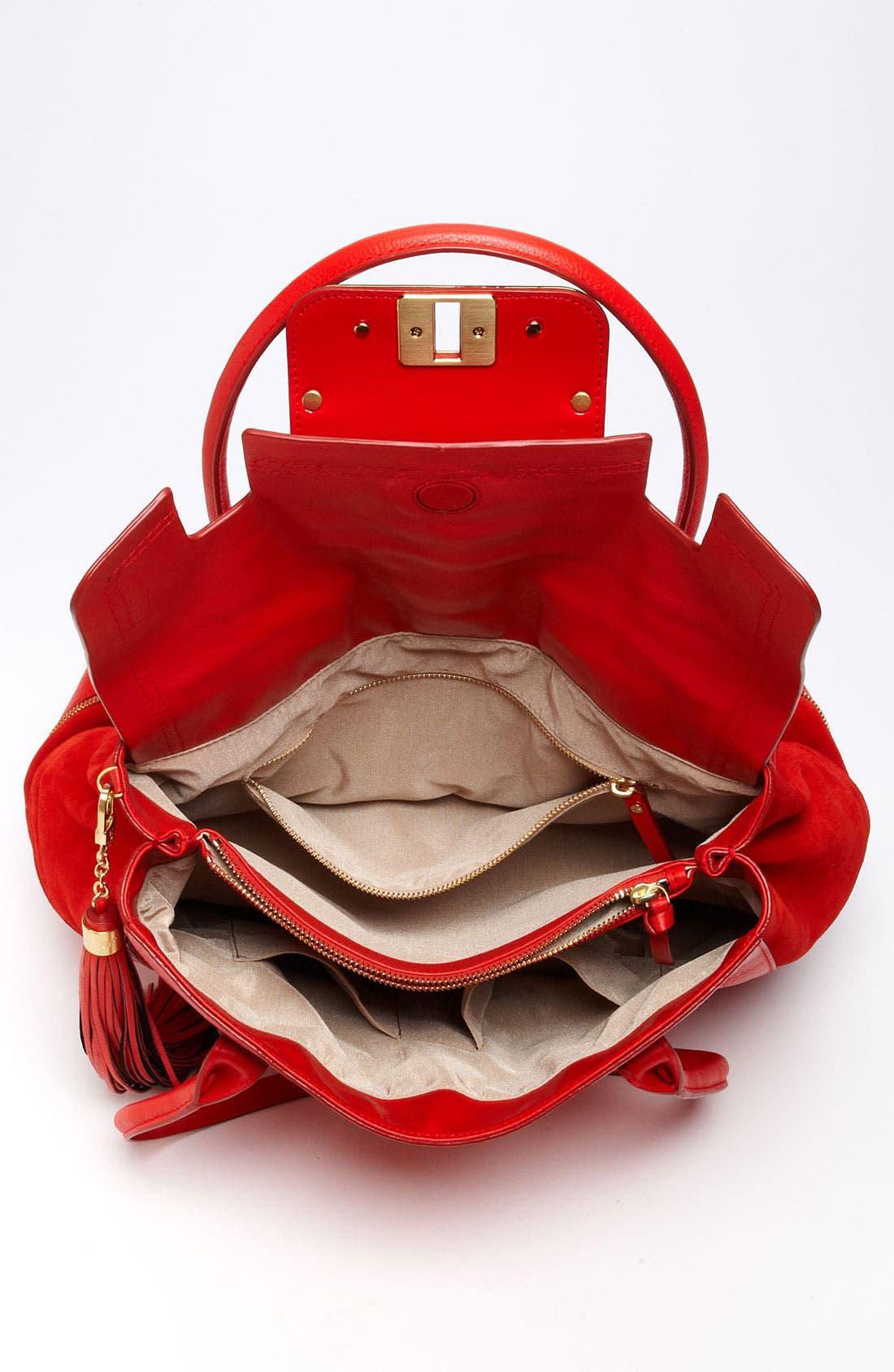 Alternate Image 3  - Diane von Furstenberg 'Harper Laurel' Leather Shoulder Bag