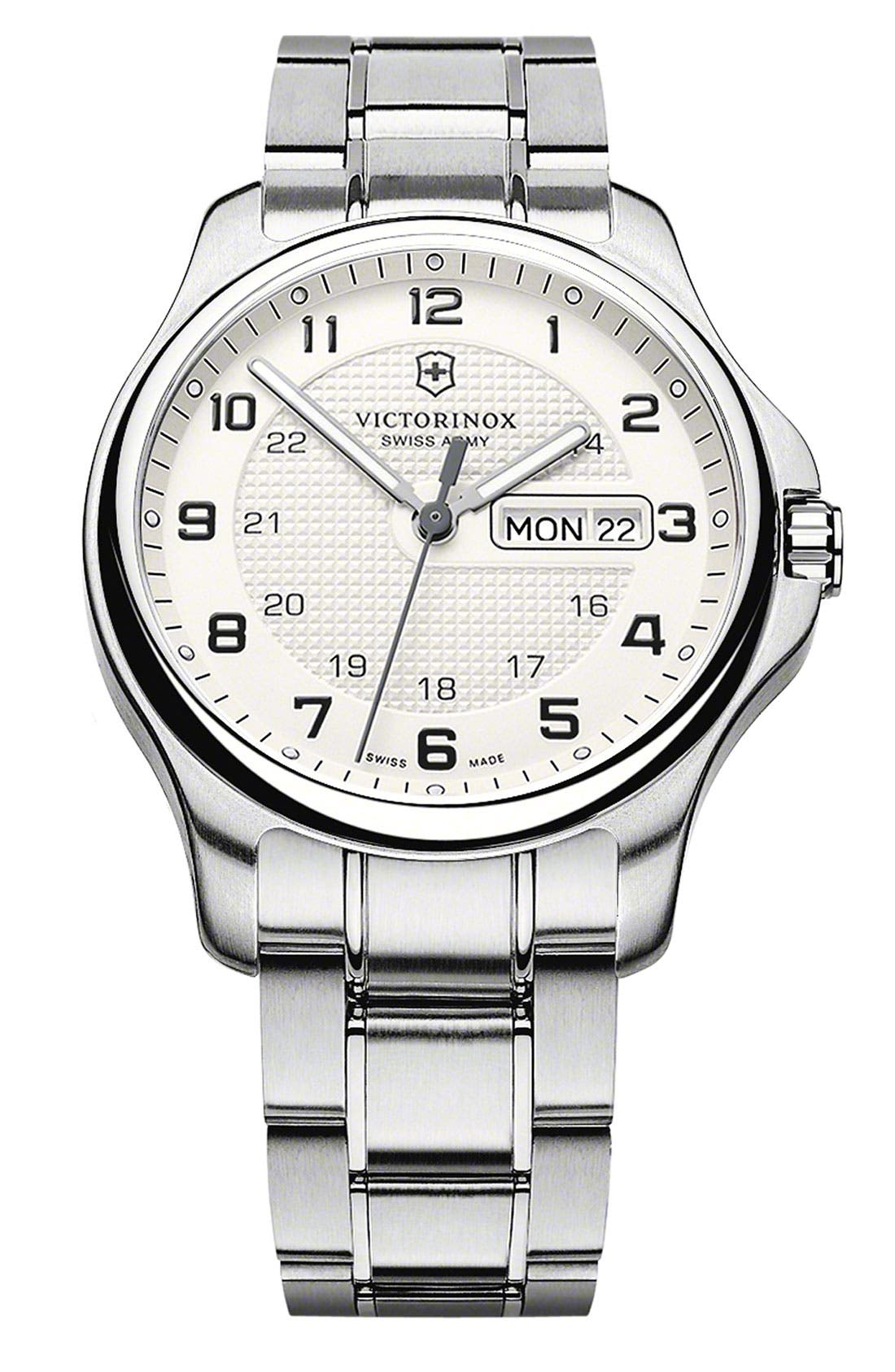 Alternate Image 1 Selected - Victorinox Swiss Army® 'Officers' Bracelet Watch, 40mm