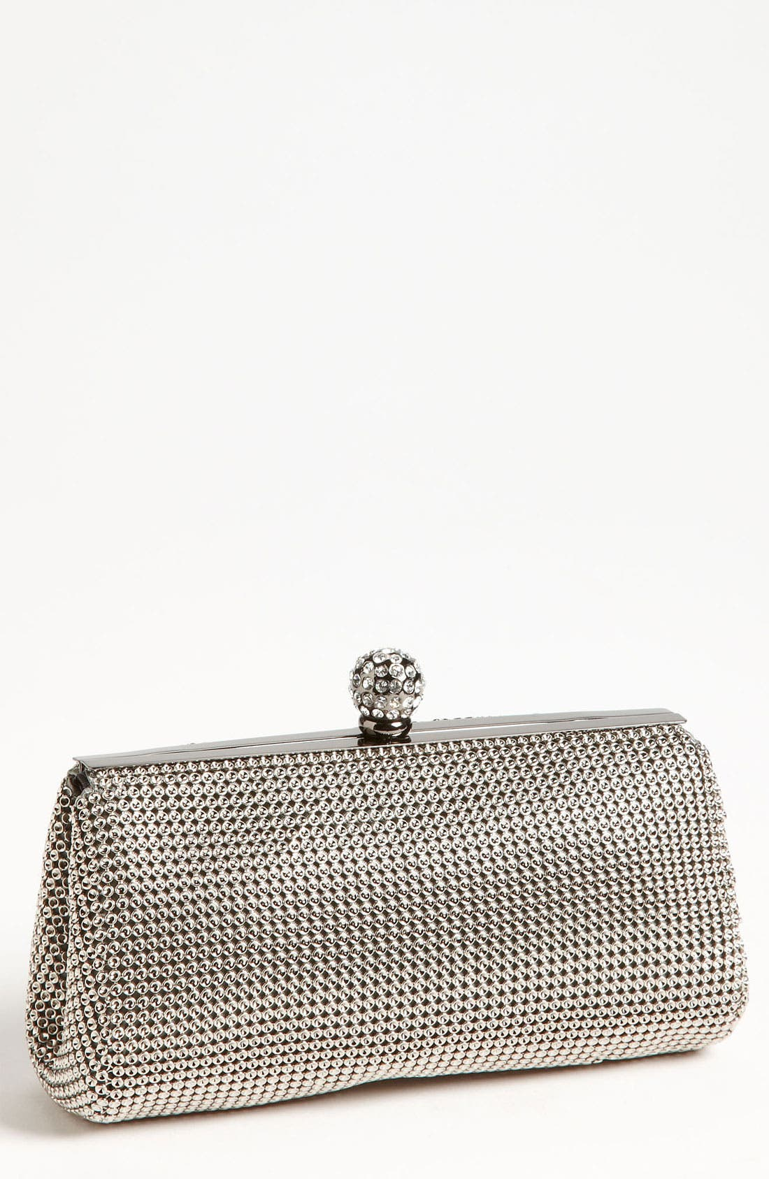 Main Image - Whiting & Davis 'Crystal' Mesh Clutch