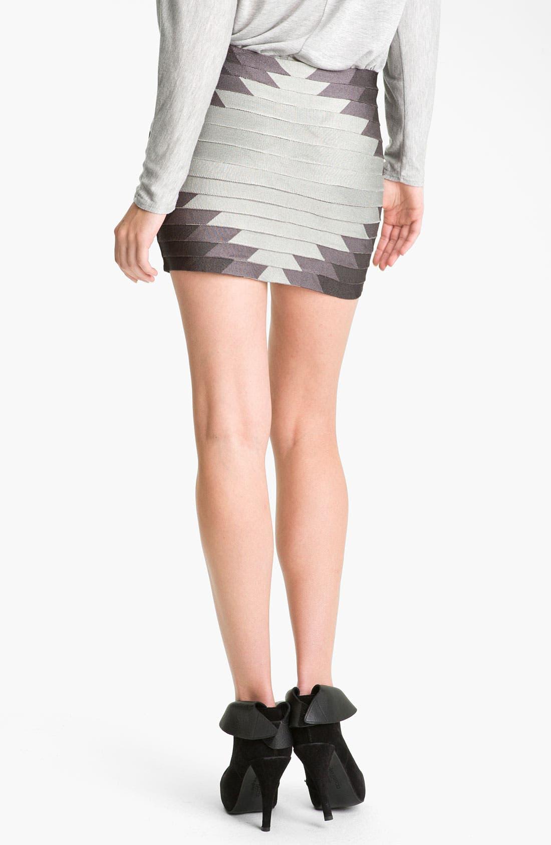 Alternate Image 2  - Haute Hippie 'Aztec' Bandage Skirt