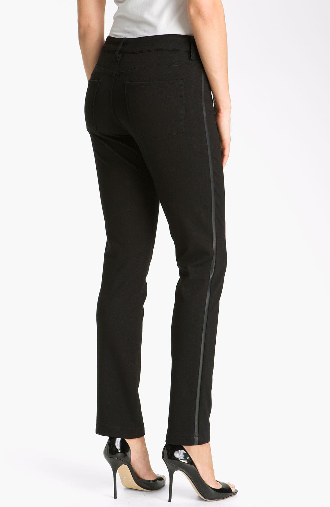 Alternate Image 2  - NYDJ 'Pamela' Skinny Stretch Ponte Pants (Petite)