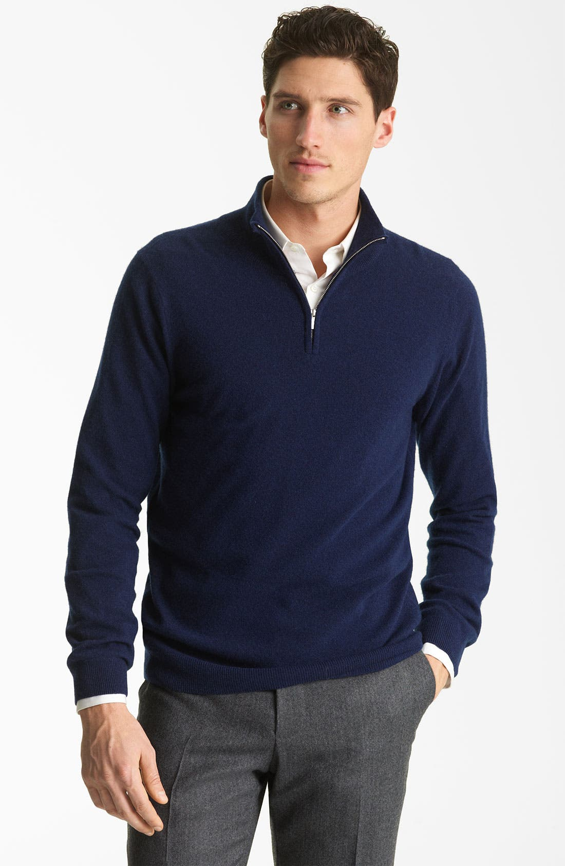 Alternate Image 1 Selected - Pringle of Scotland Zip Neck Sweater