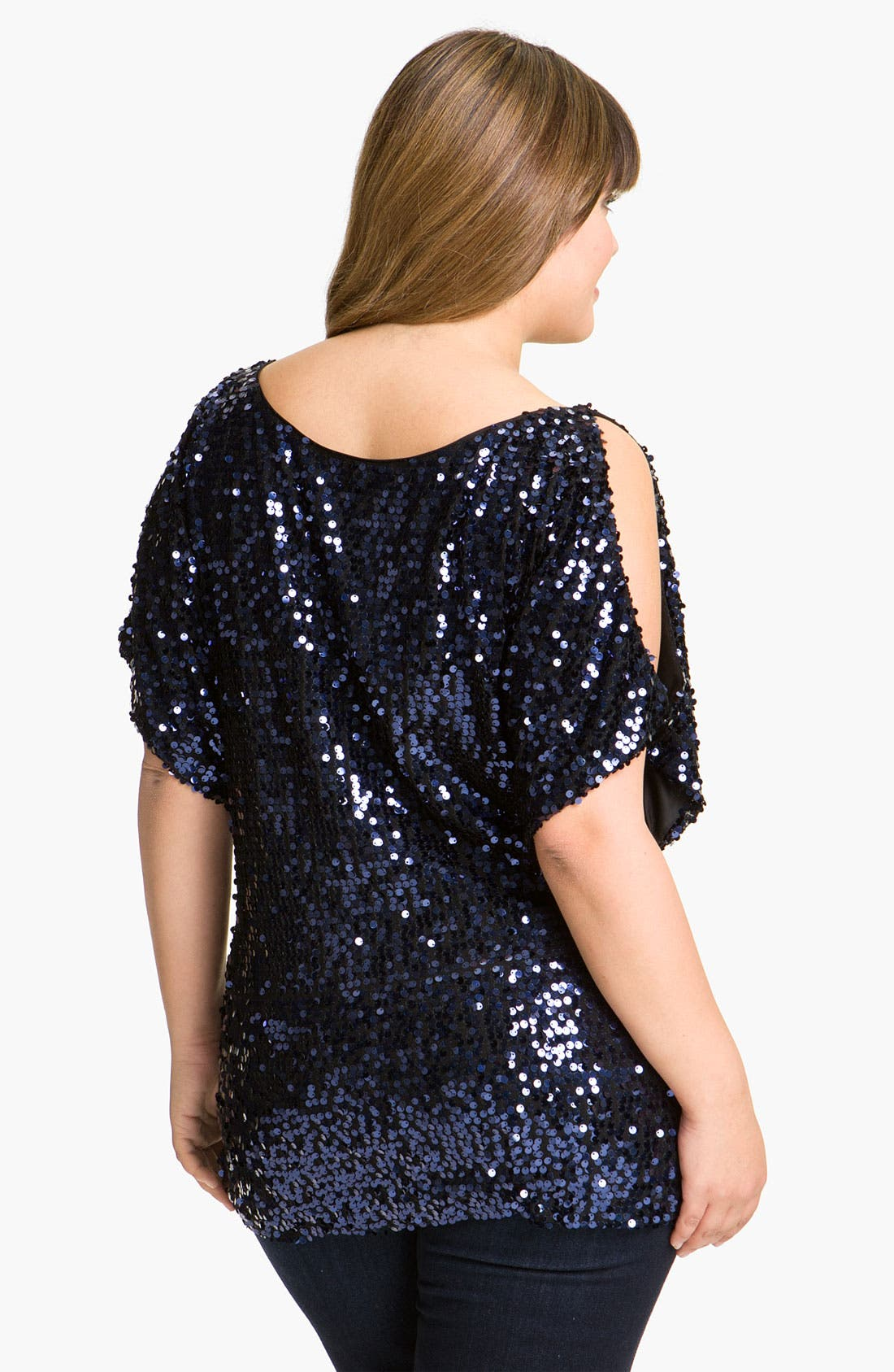 Alternate Image 2  - Adrianna Papell Sequin Dolman Sleeve Top (Plus)