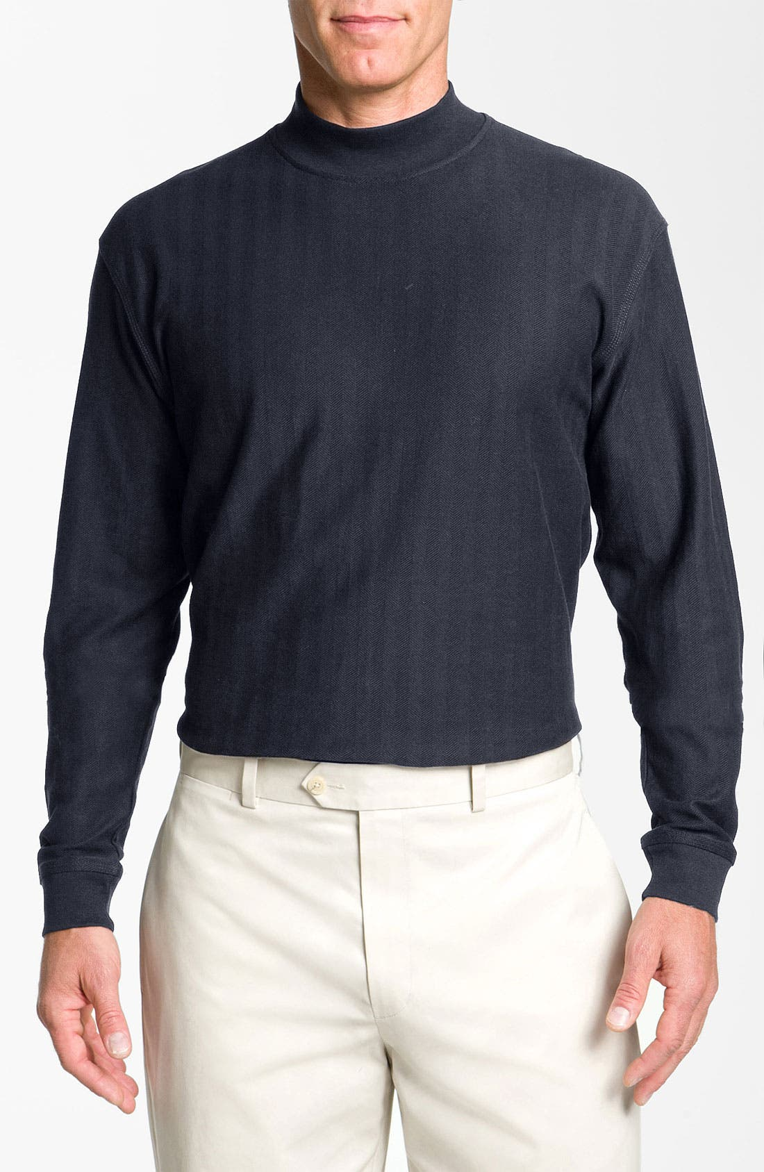 Main Image - Cutter & Buck 'Atwell' Mock Neck Sweater (Big & Tall) (Online Exclusive)