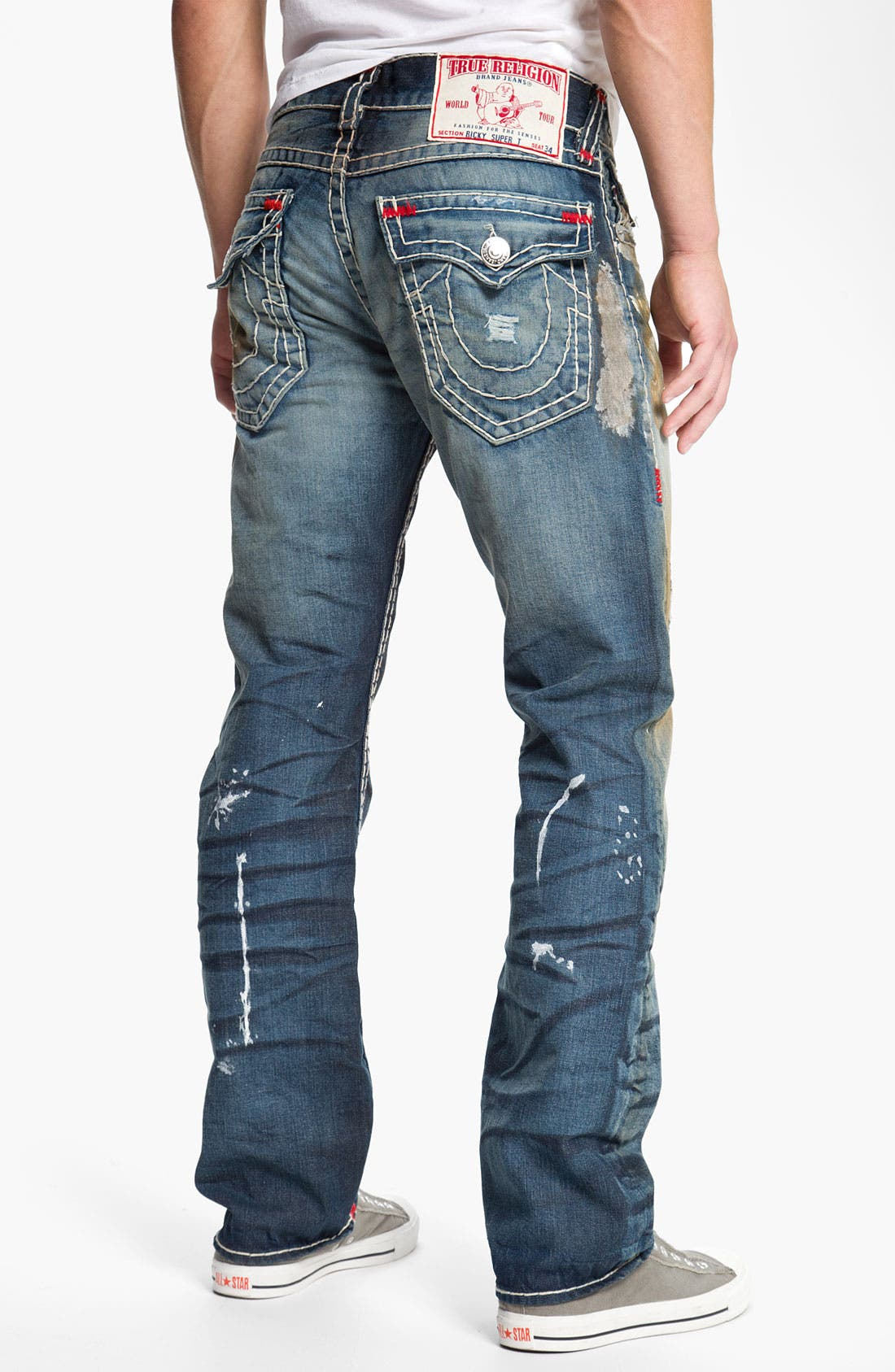 Alternate Image 1 Selected - True Religion Brand Jeans 'Ricky' Straight Leg Jeans (Bounty)