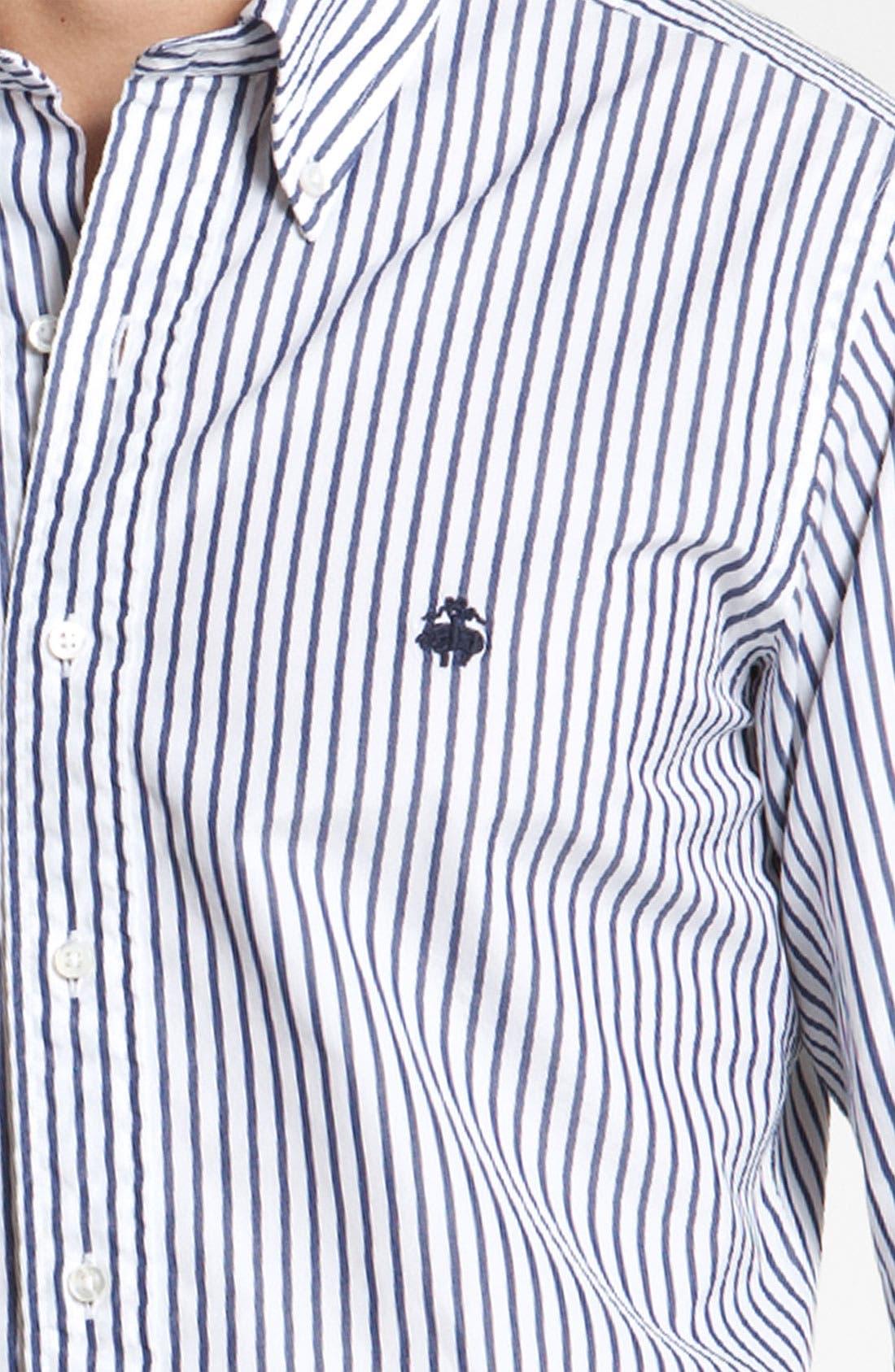 Alternate Image 3  - Brooks Brothers by Jeffrey Stripe Woven Shirt