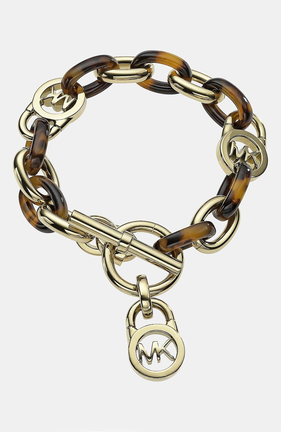 Alternate Image 1 Selected - Michael Kors 'Heritage Link' Toggle Bracelet