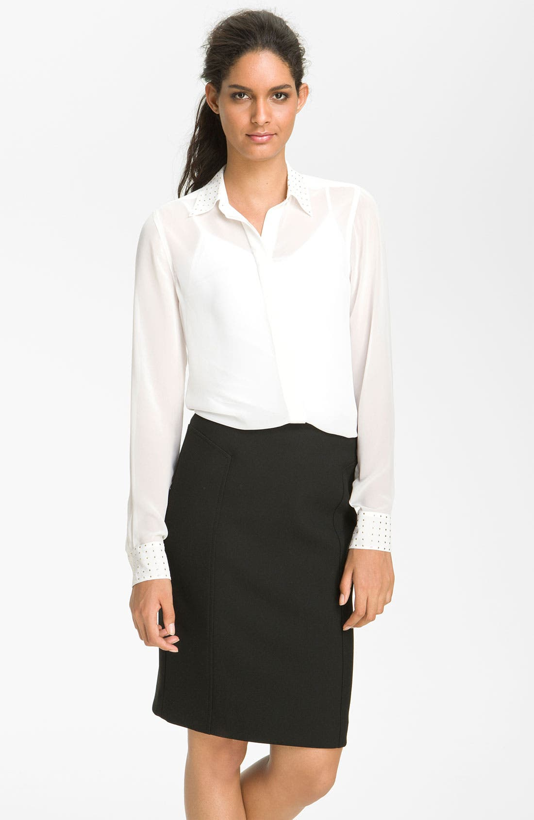 Alternate Image 1 Selected - Vince Camuto Stud Detail Blouse