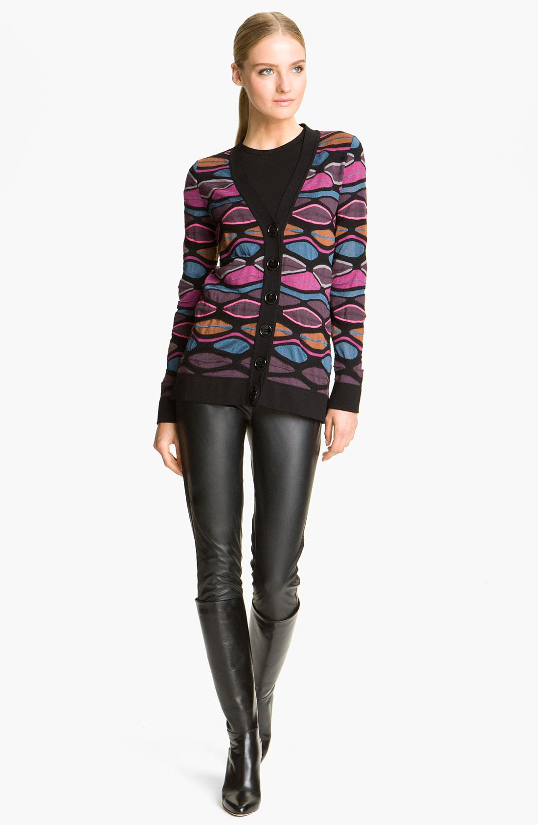 Main Image - M Missoni Oval Stripe Cardigan
