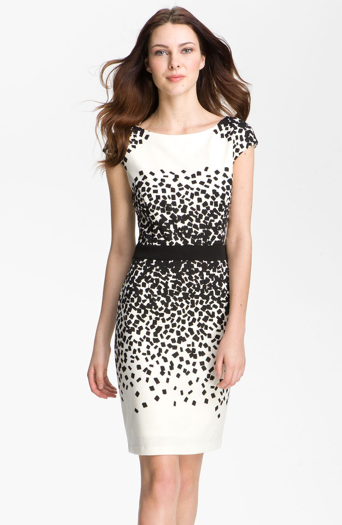 Alternate Image 1 Selected - Maggy London Scatter Print Ponte Sheath Dress