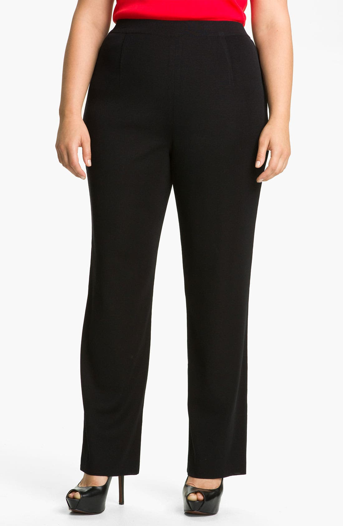 Main Image - Misook Cigarette Pants (Plus Size)