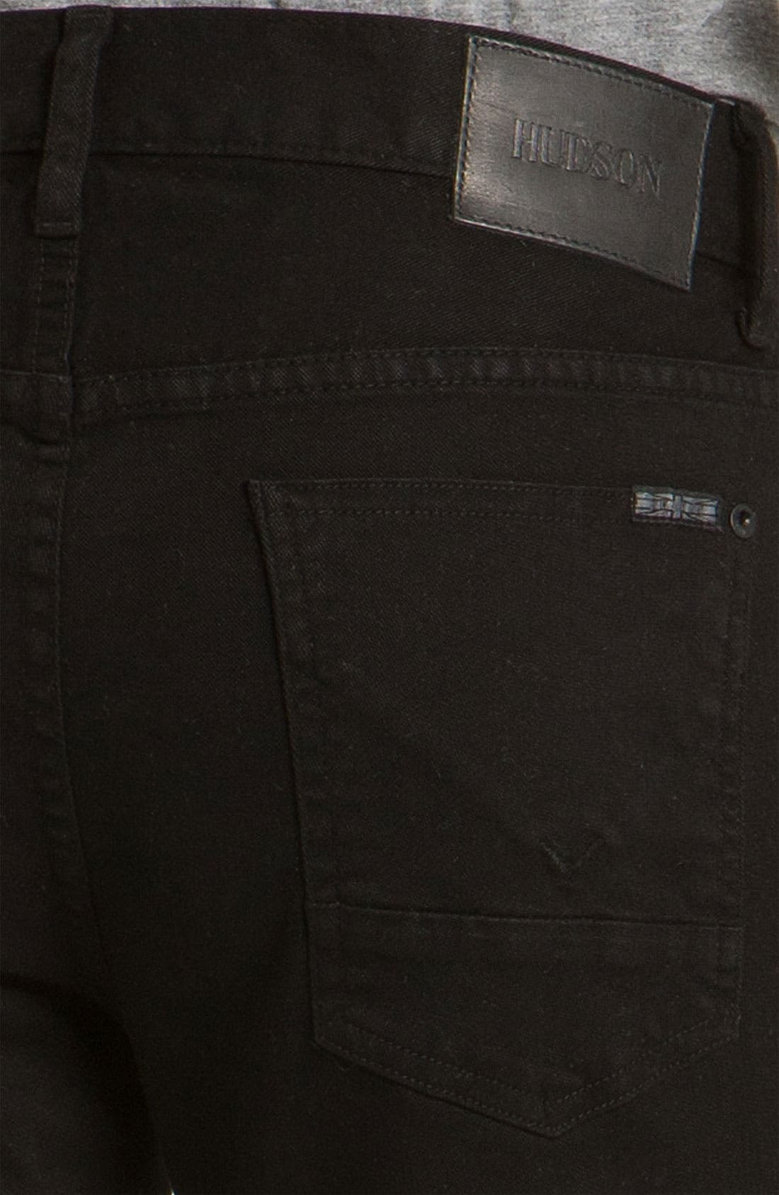 Alternate Image 4  - Hudson Jeans 'Buckley Athletic' Straight Leg Jeans (Jet Black)