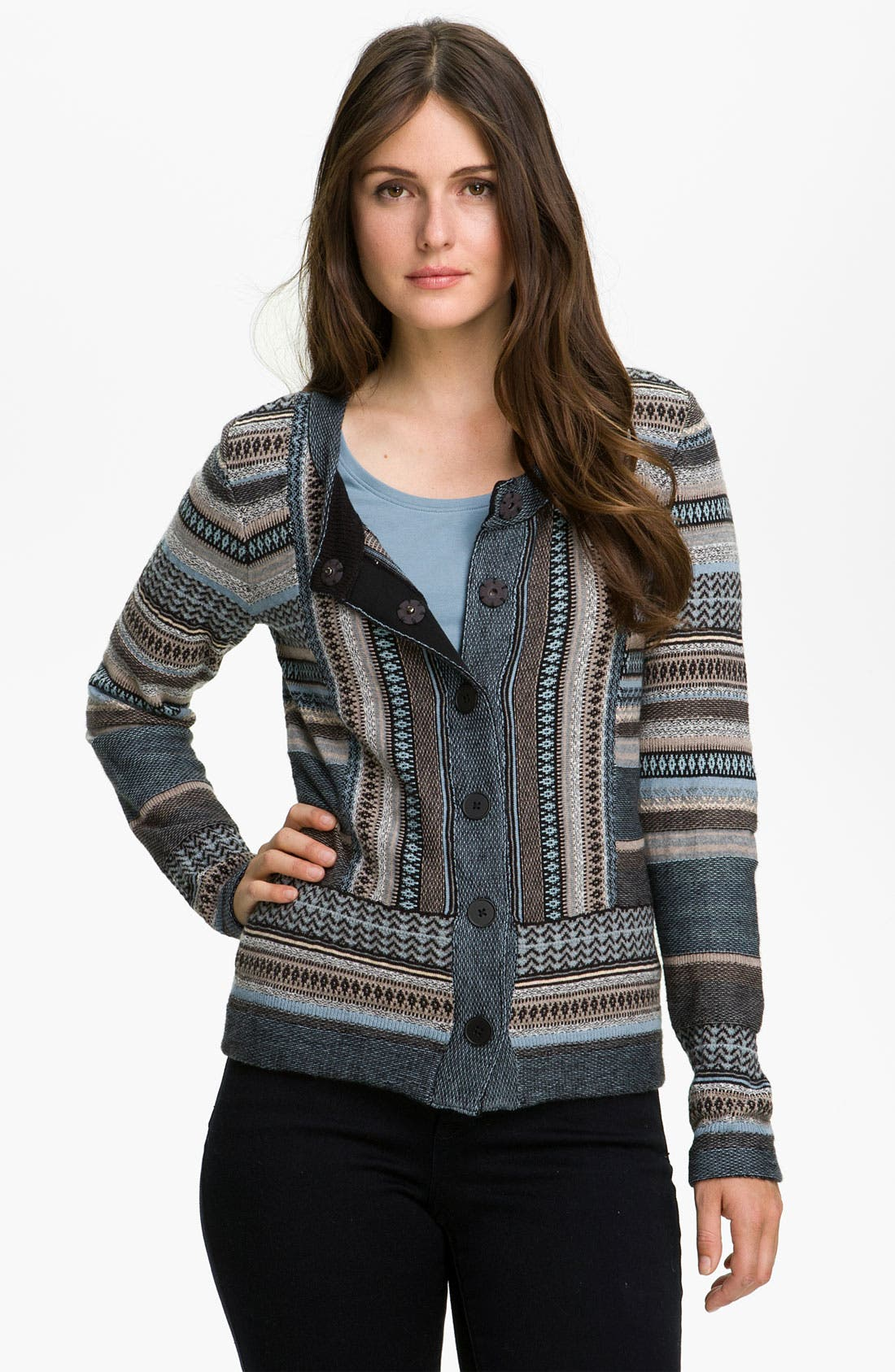 Alternate Image 1 Selected - Nic + Zoe Stripe Knit Cardigan