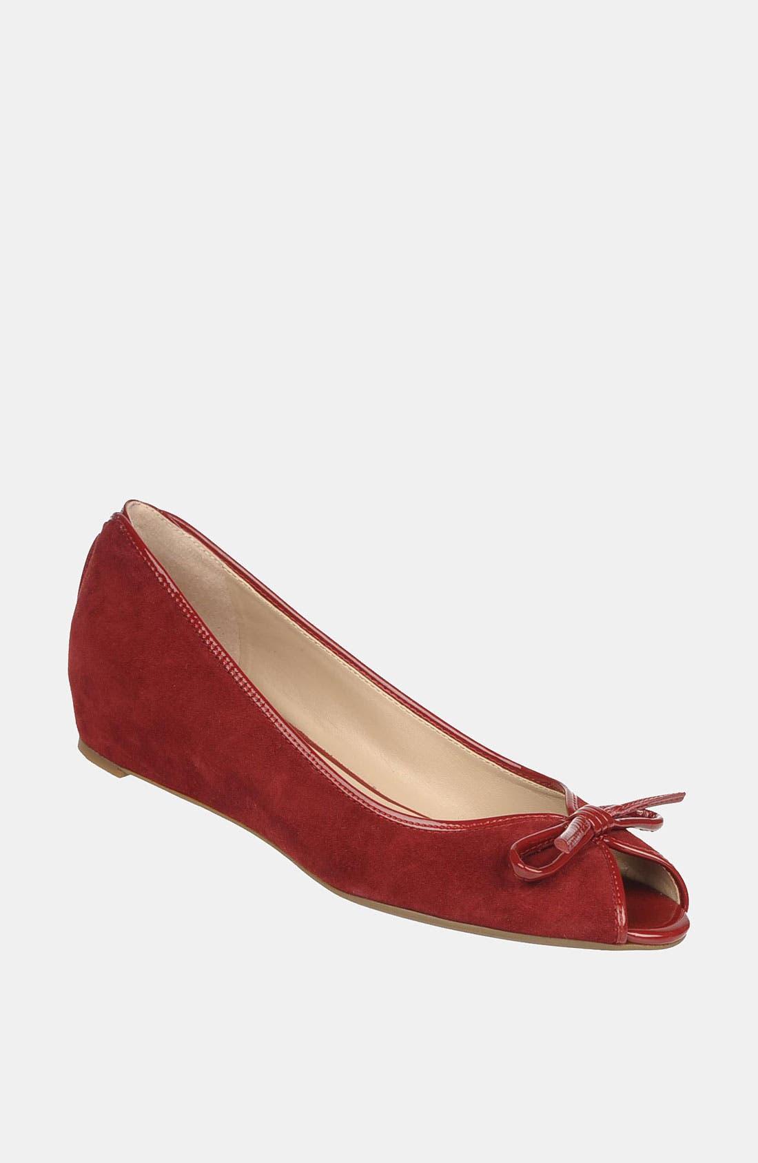 Alternate Image 1 Selected - Franco Sarto 'Model' Peep Toe Flat