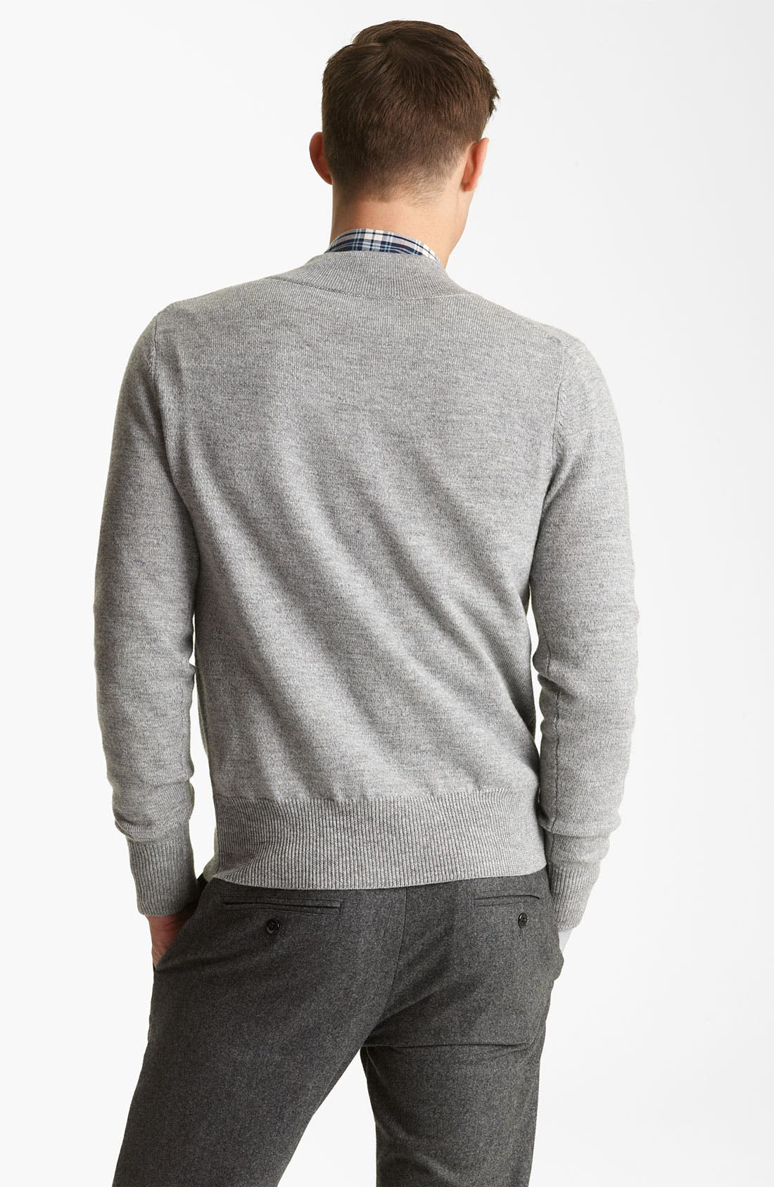 Alternate Image 2  - Todd Snyder V-Neck Merino Wool Sweater