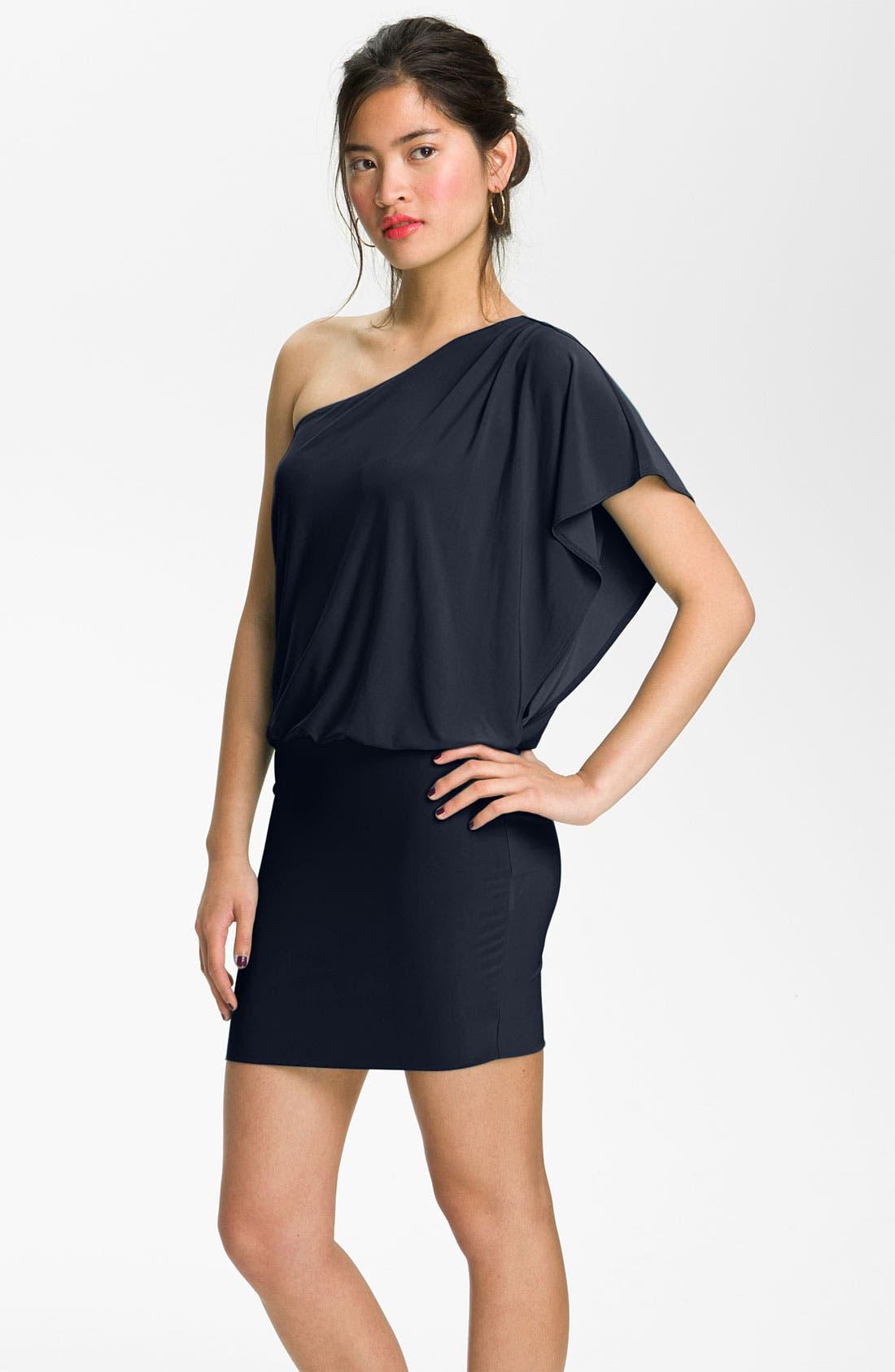 Alternate Image 1 Selected - Soprano 'Mia' One Shoulder Dress (Juniors)