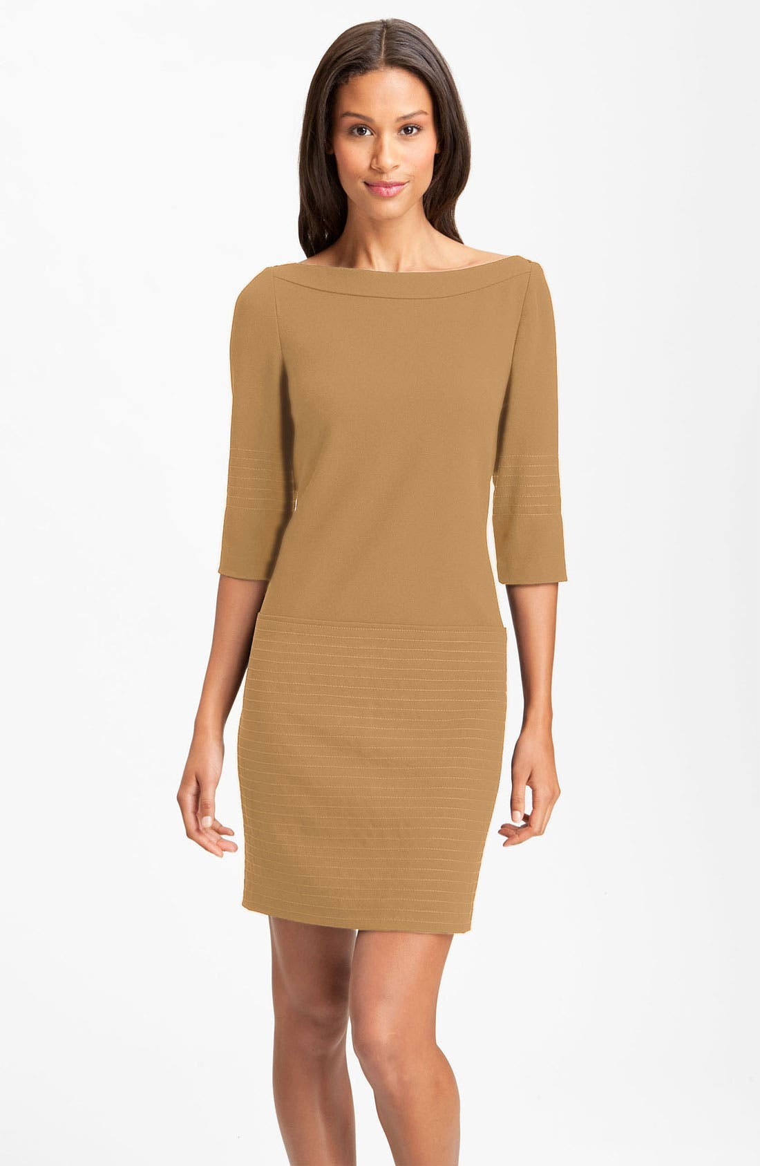 Alternate Image 1 Selected - Jessica Simpson Trapunto Stitch Shift Dress (Online Exclusive)