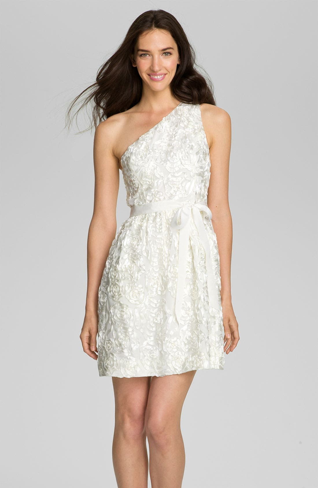 Alternate Image 1 Selected - Jill Stuart One Shoulder Soutache Tulle Dress