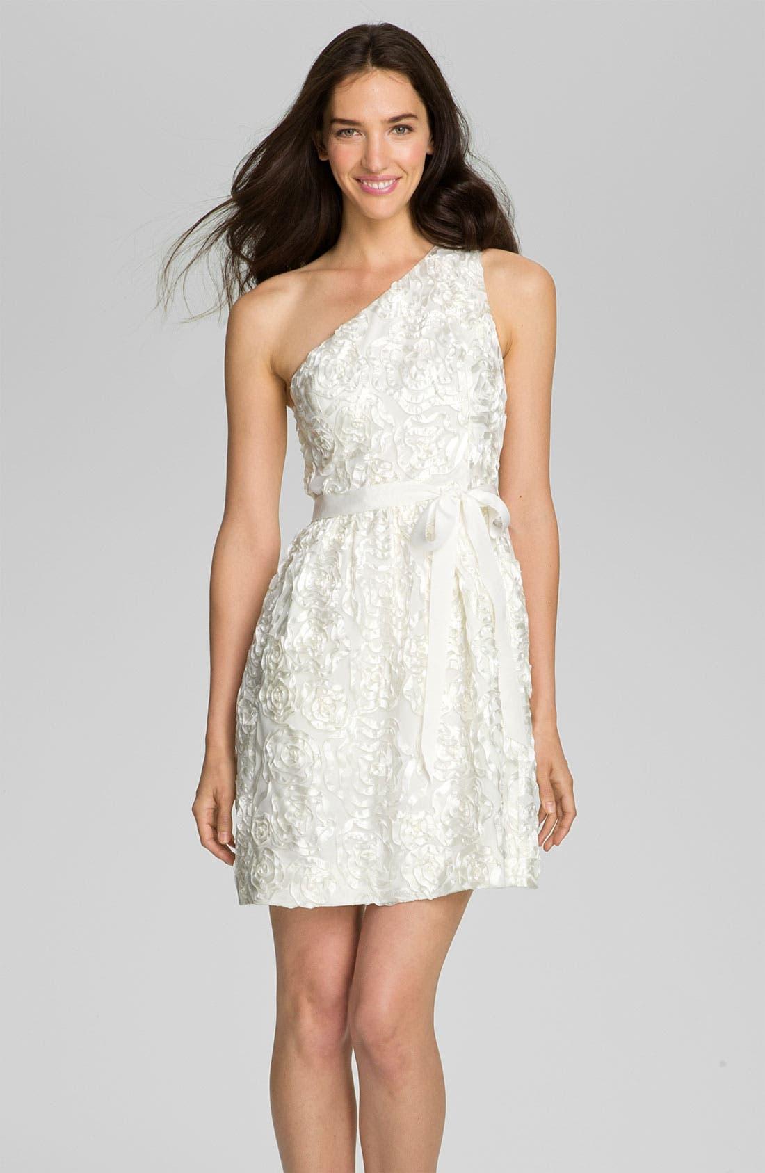 Main Image - Jill Stuart One Shoulder Soutache Tulle Dress