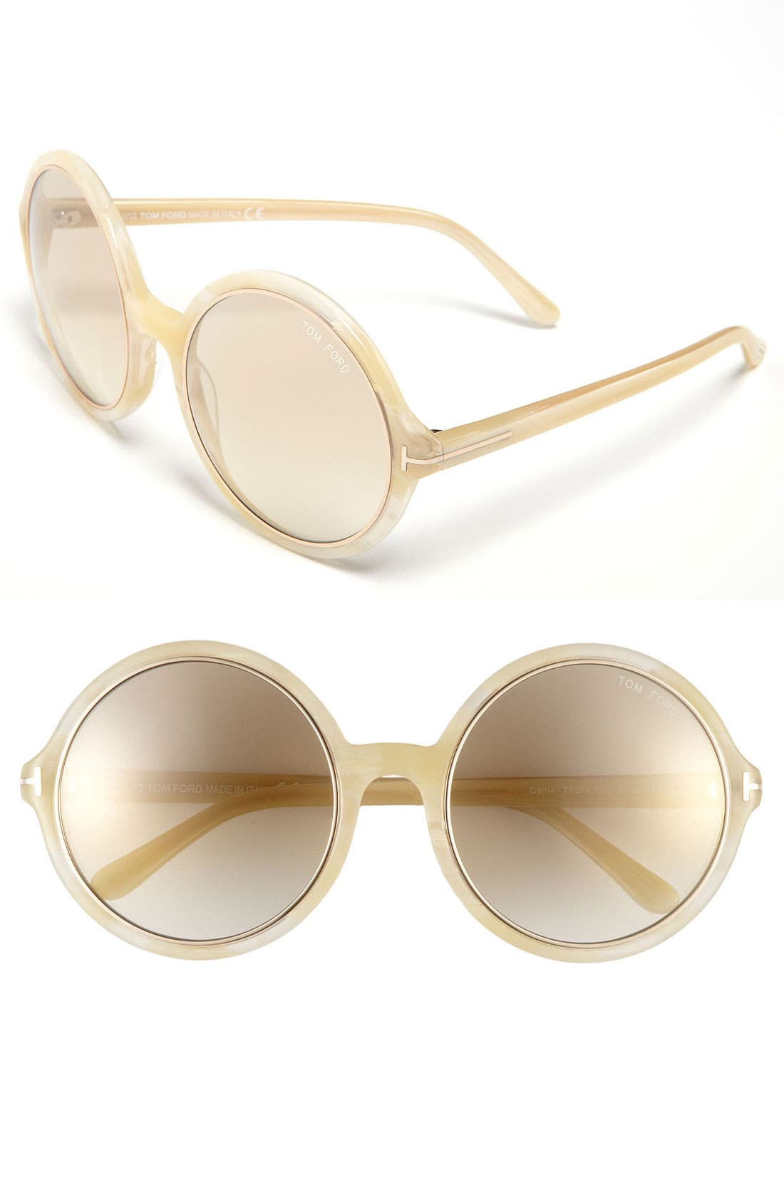 Alternate Image 1 Selected - Tom Ford 'Carrie' 59mm Round Sunglasses