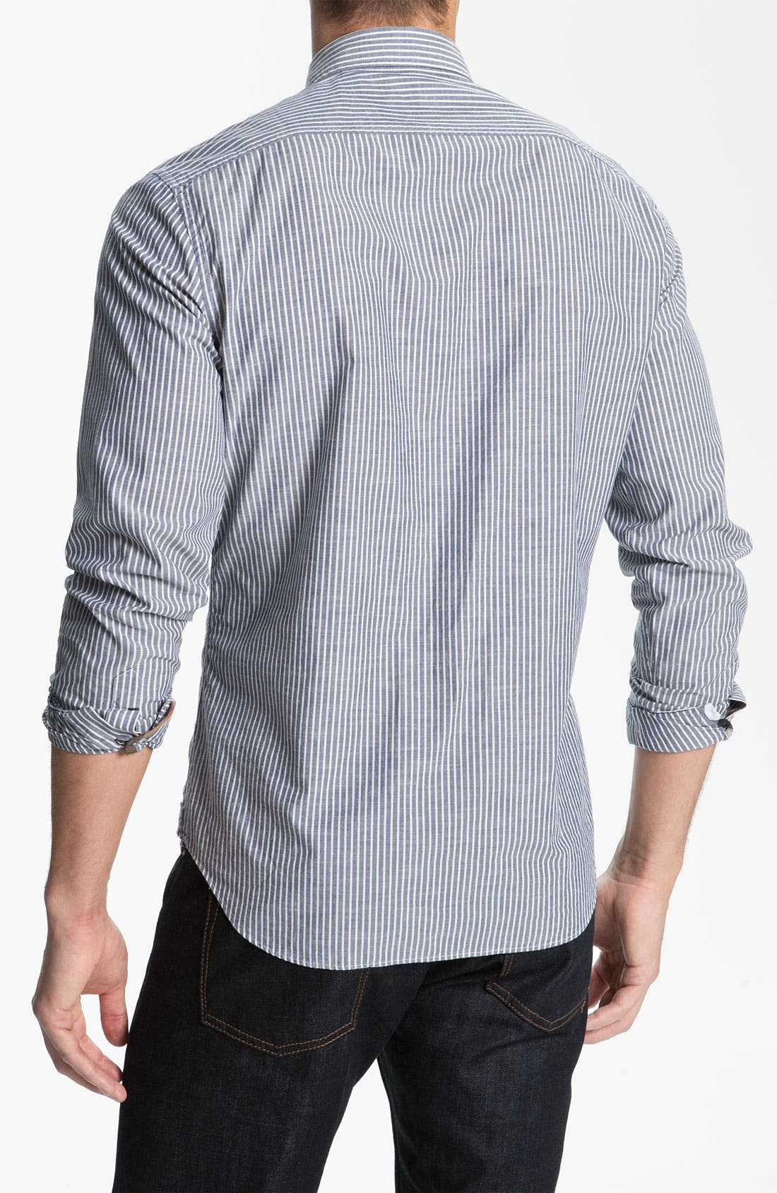 Alternate Image 2  - Burberry Brit Stripe Trim Fit Sport Shirt