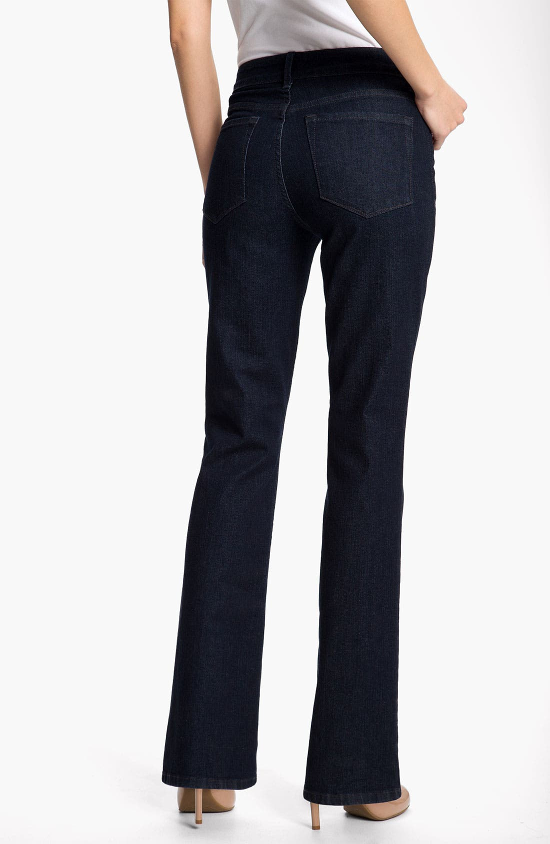 Alternate Image 2  - NYDJ 'Barbara' Stretch Bootcut Jeans (Dark Enzyme) (Petite)