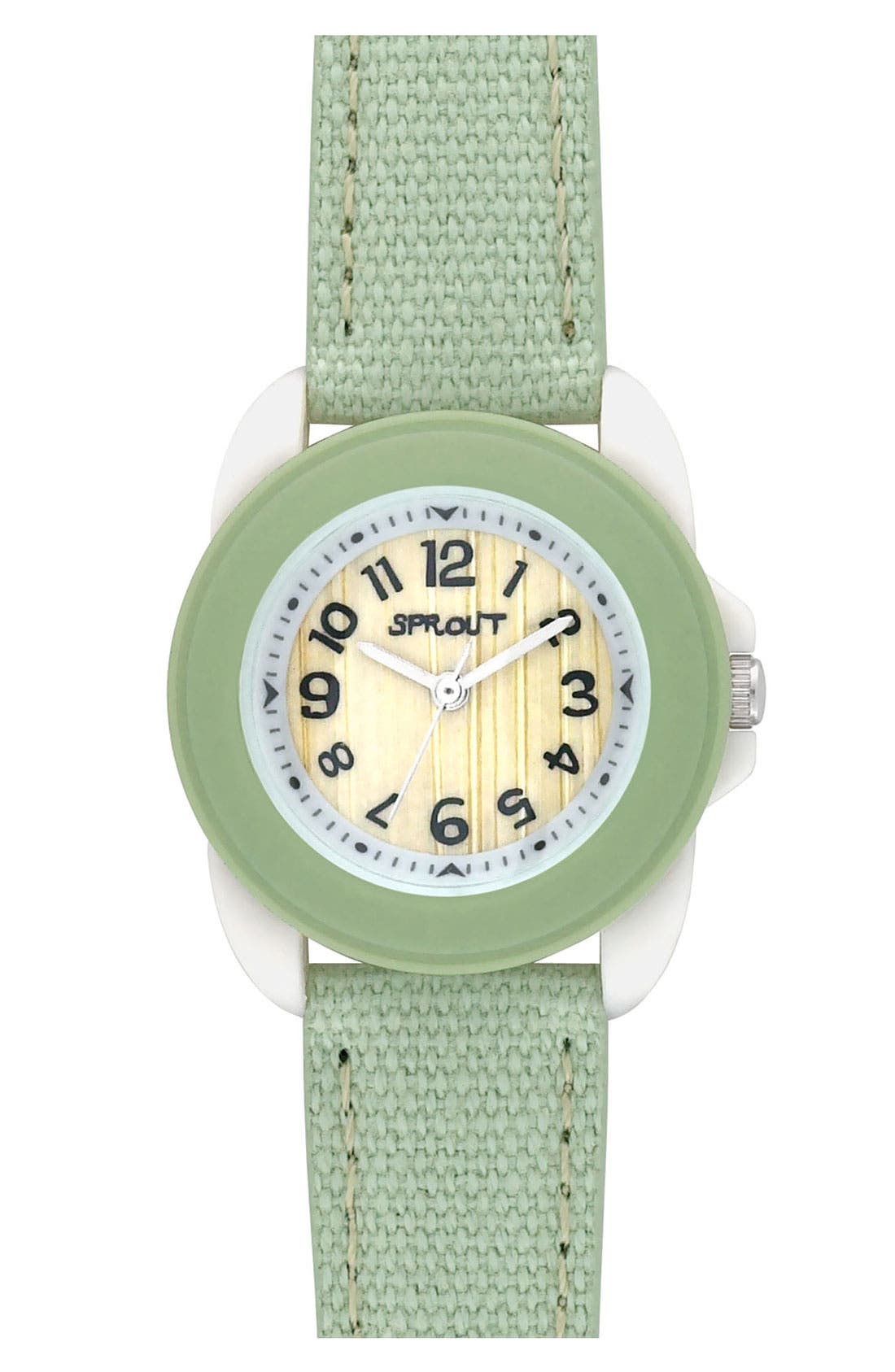 Alternate Image 1 Selected - SPROUT™ Watches Organic Cotton Strap Watch, 30mm