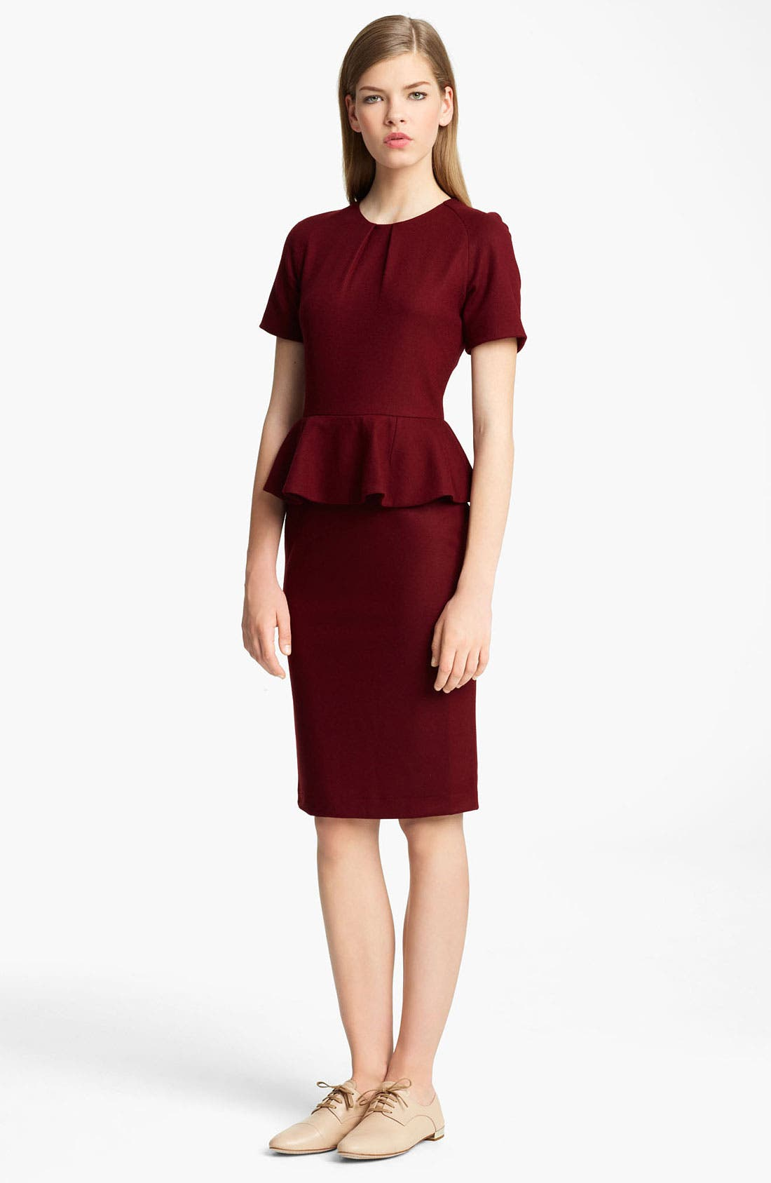 Alternate Image 1 Selected - Jil Sander Peplum Dress