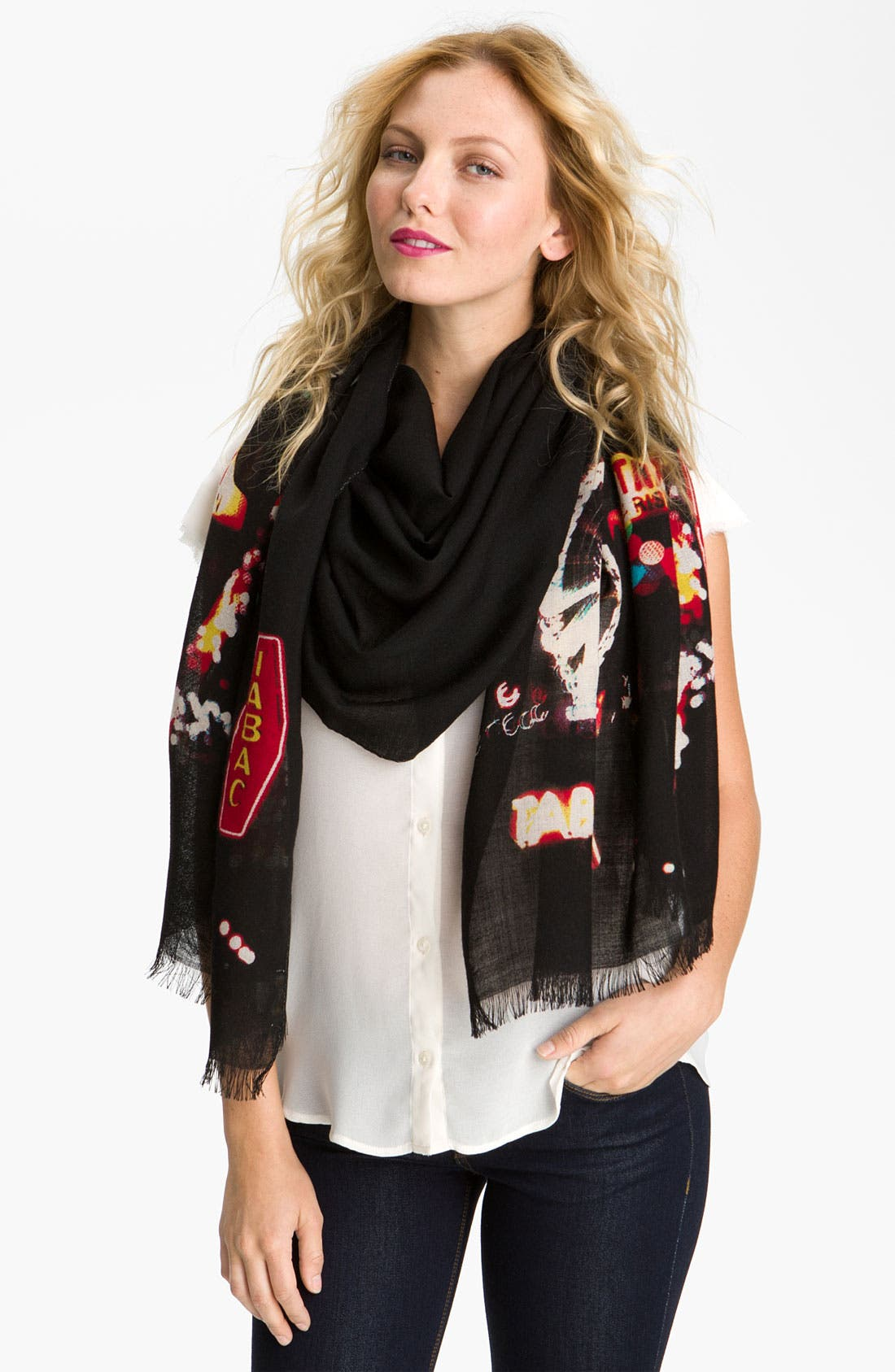 Main Image - kate spade new york 'paris' wool scarf