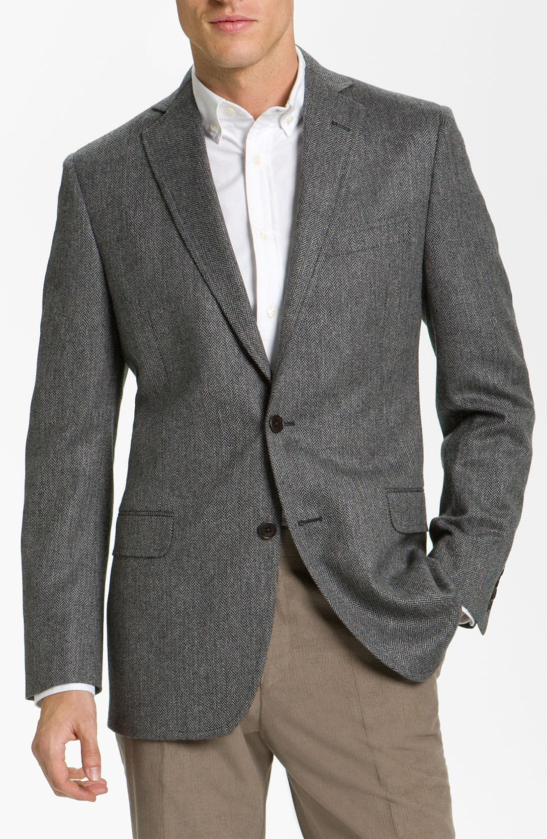 Alternate Image 1 Selected - Brooks Brothers Herringbone Sportcoat