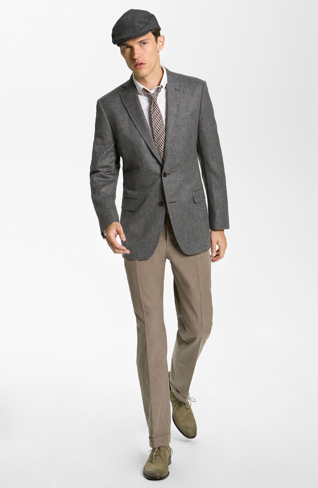 Alternate Image 4  - Brooks Brothers Herringbone Sportcoat