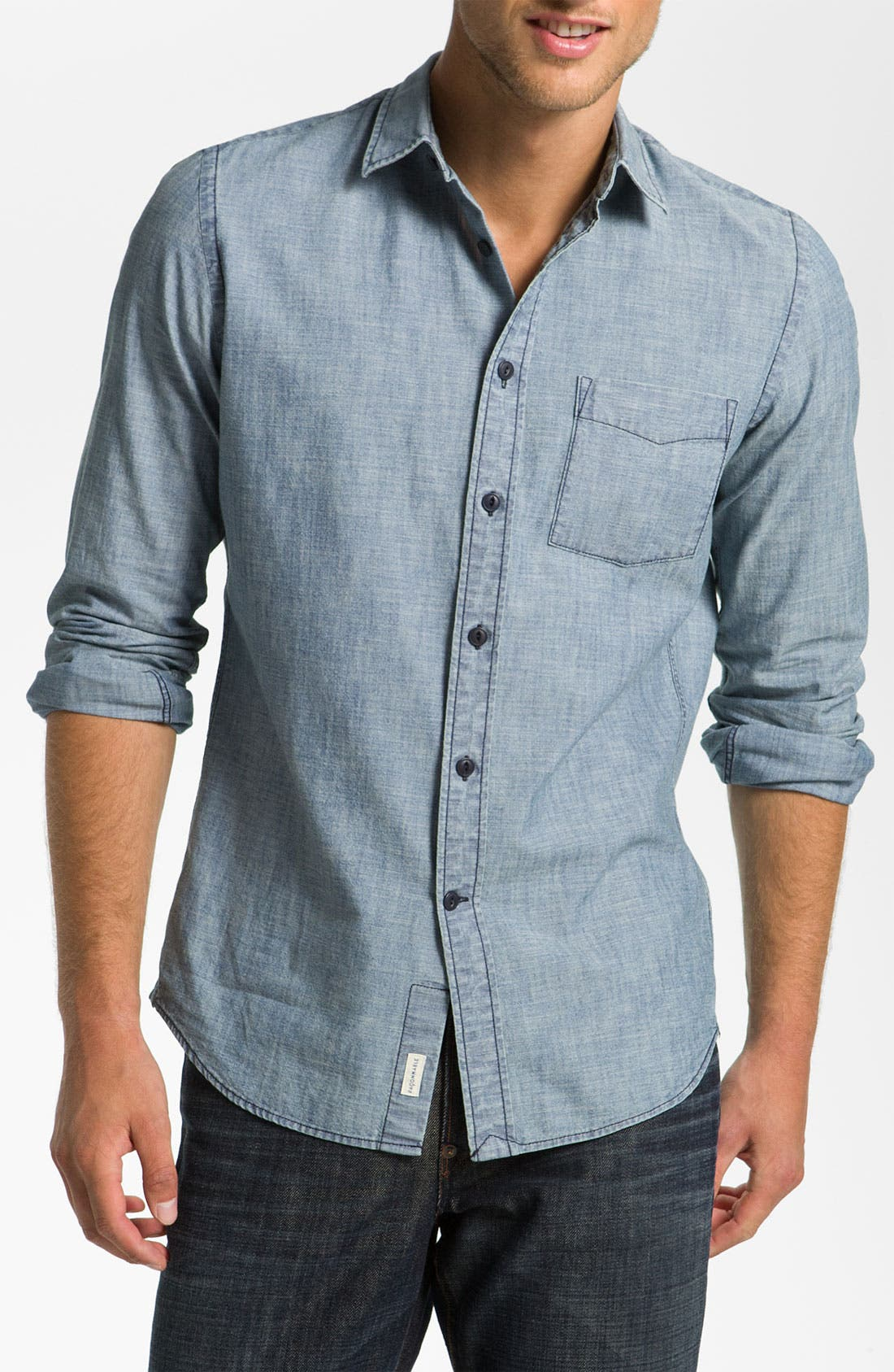 Main Image - Façonnable Trim Fit Sport Shirt
